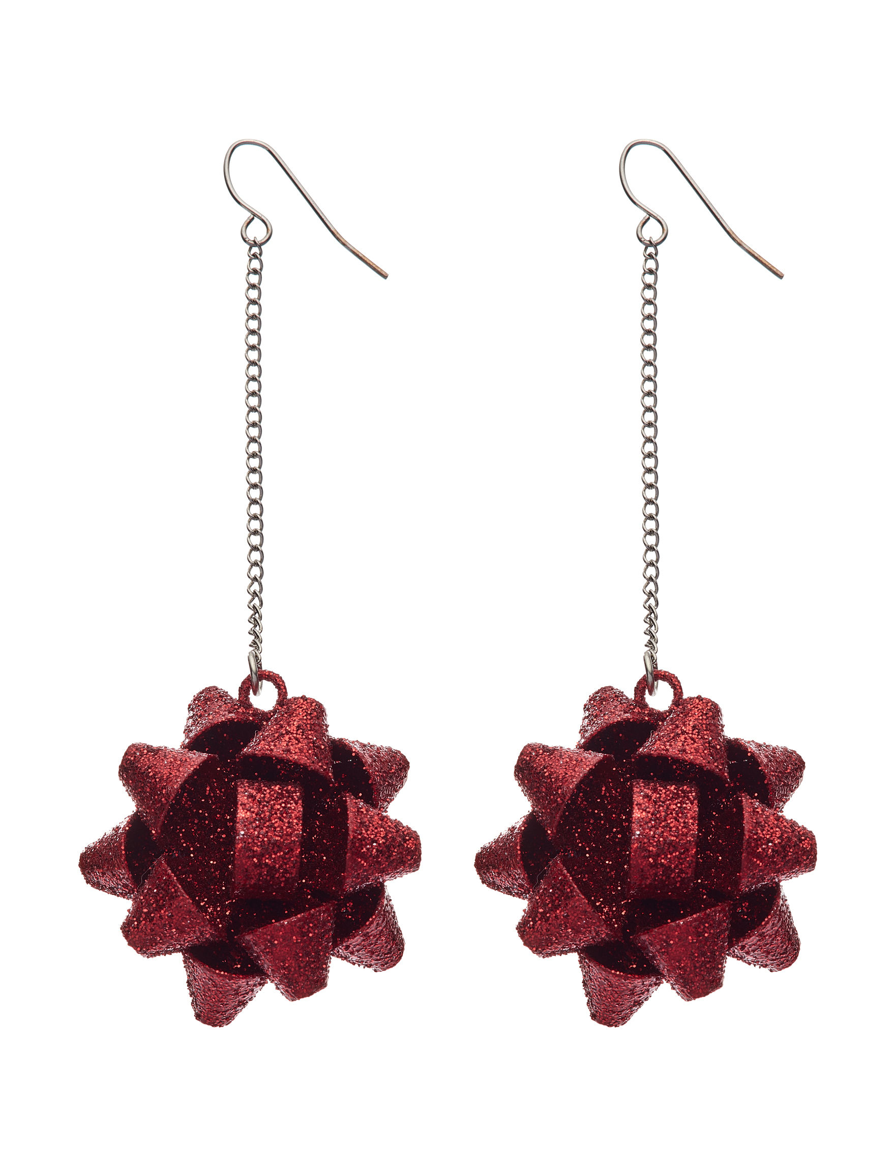 Hannah Red Drops Earrings Fashion Jewelry
