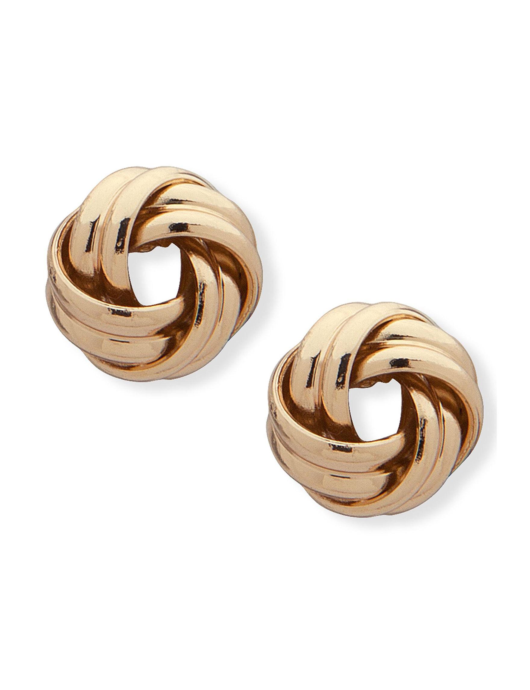 Chaps Gold Studs Earrings Fashion Jewelry