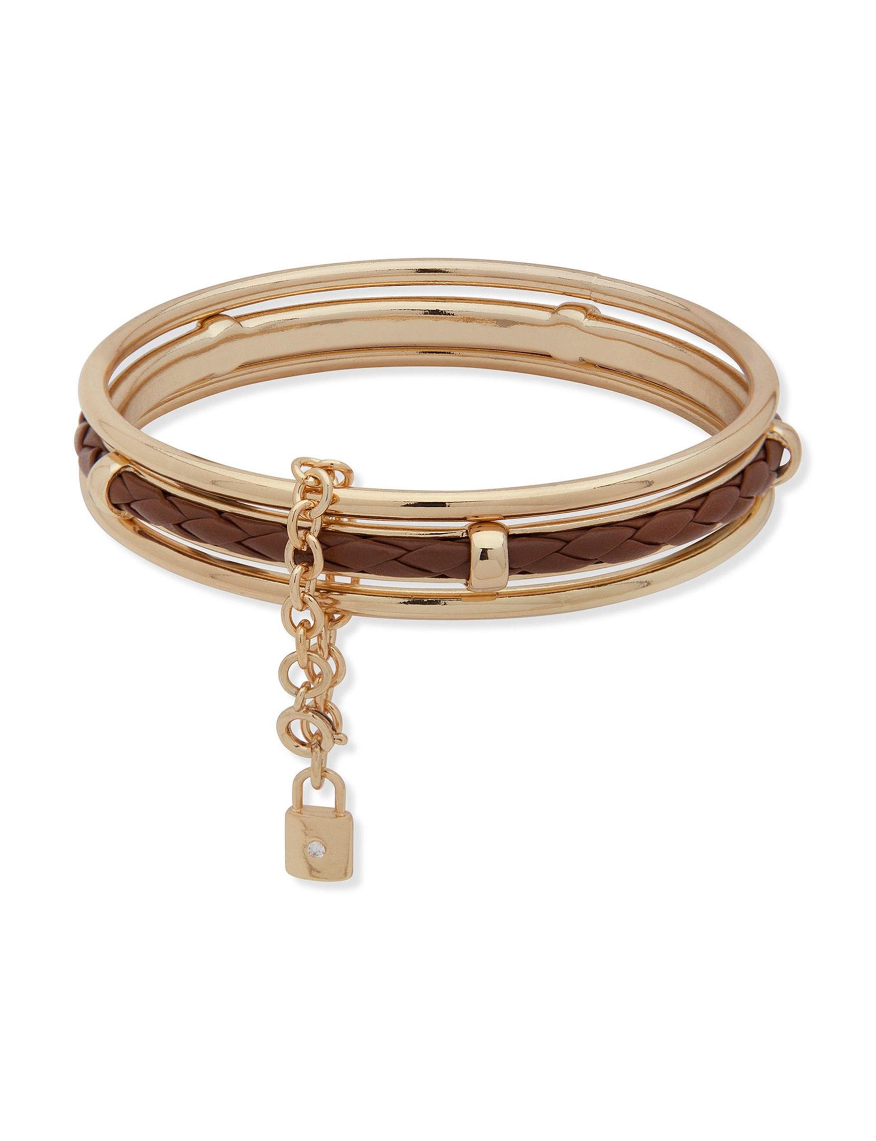 Chaps Brown Bracelets Fashion Jewelry