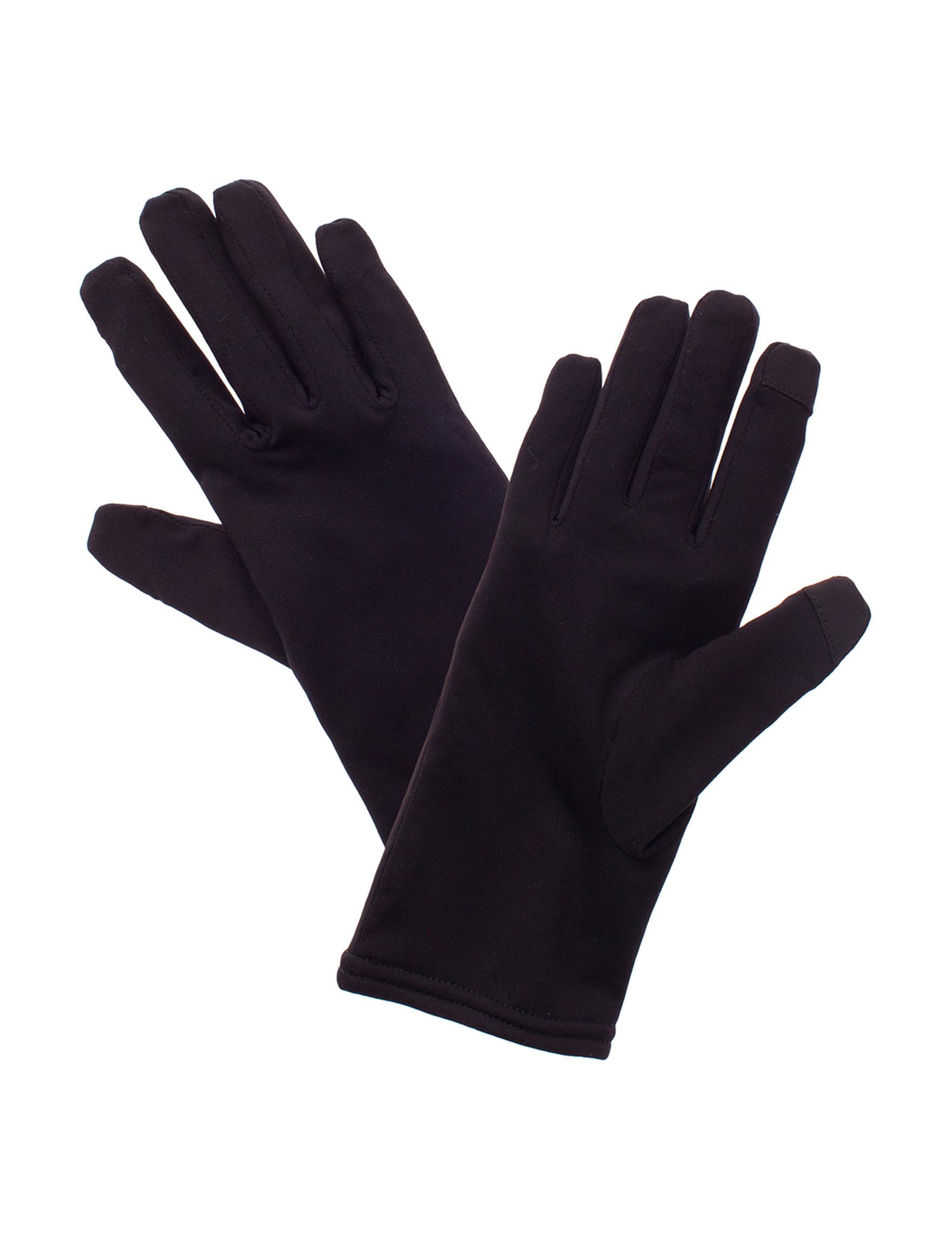 Cuddl Duds Black / Grey Gloves & Mittens