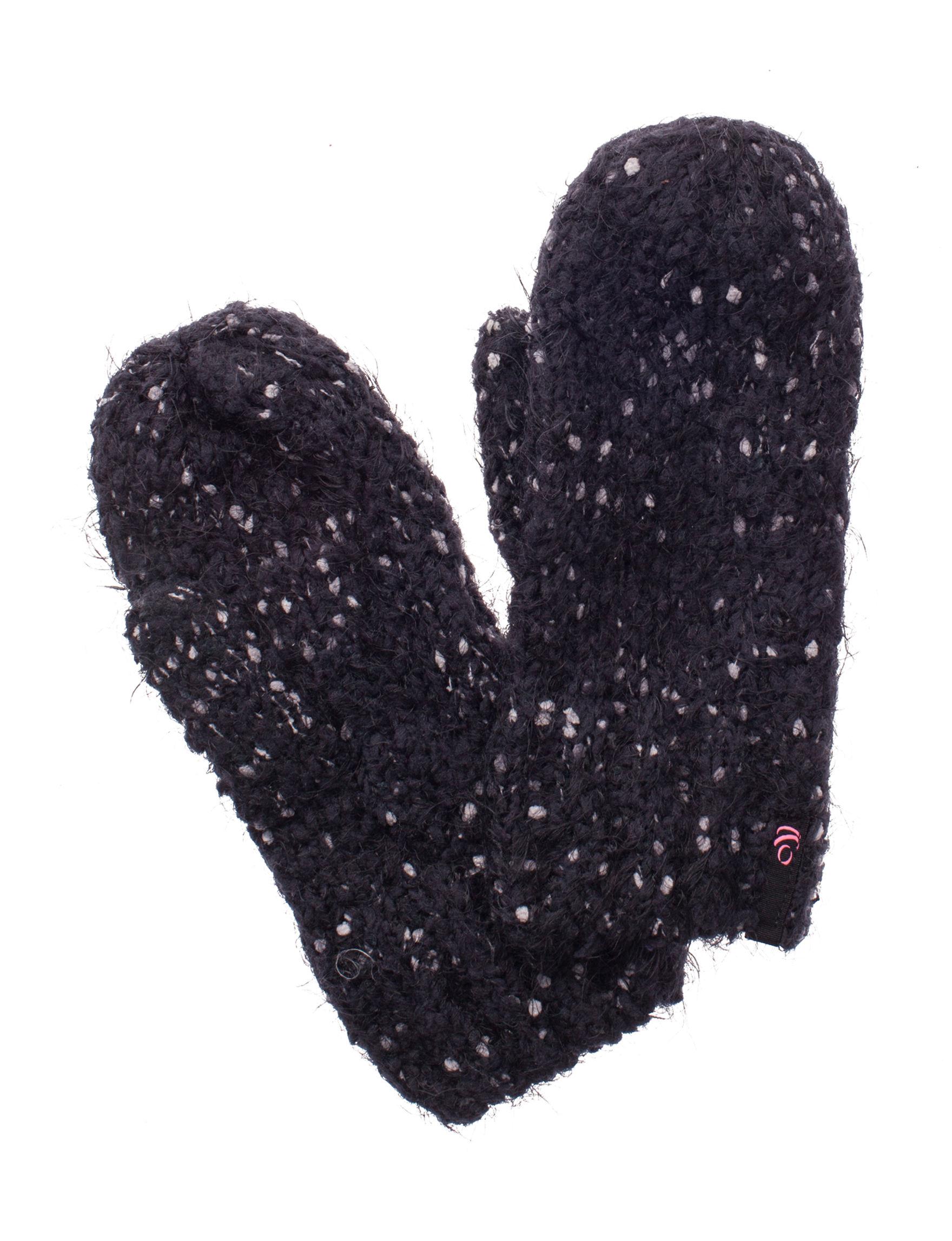 Cuddl Duds Black/Grey/White Gloves & Mittens