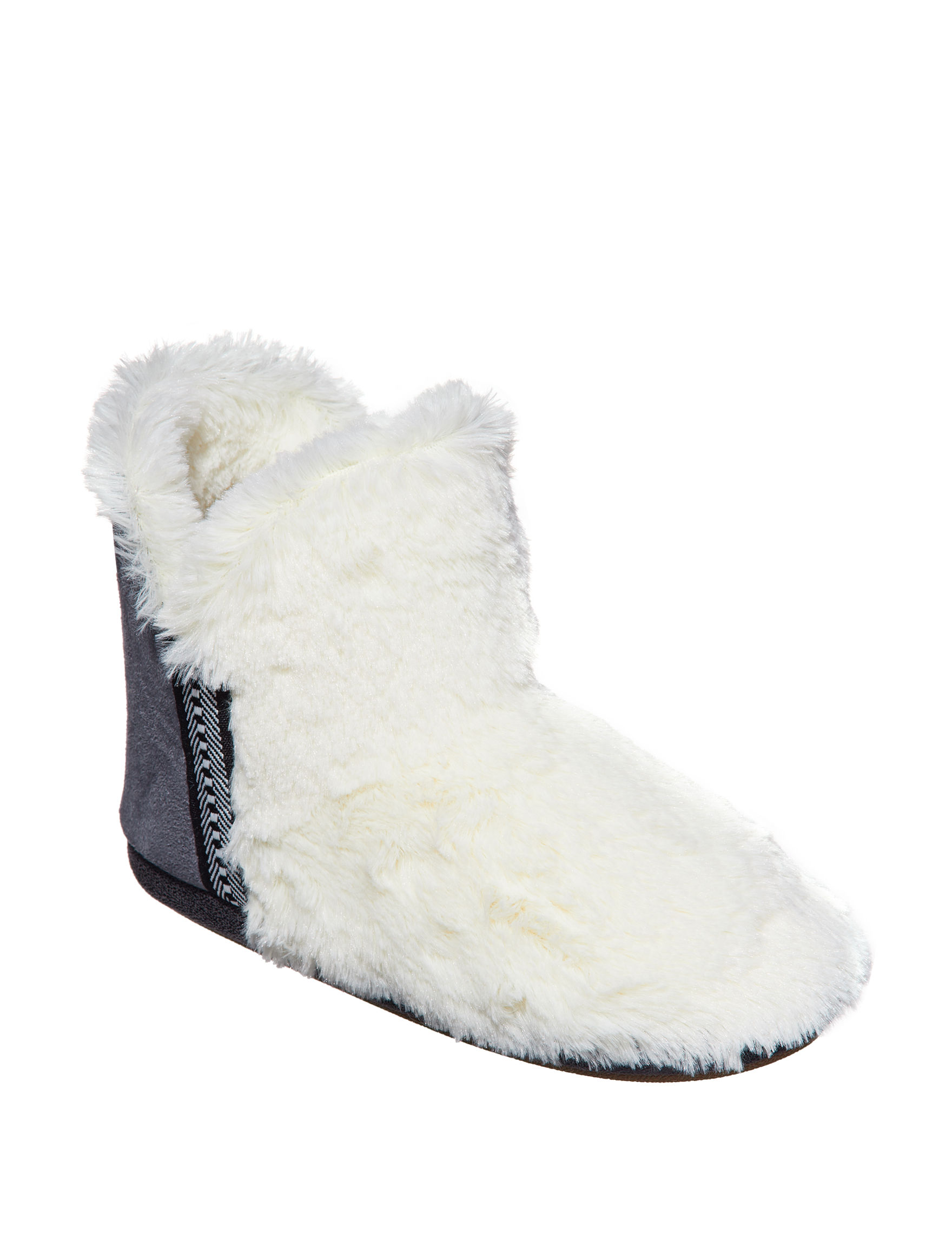 Cuddl Duds Ivory Slipper Shoes