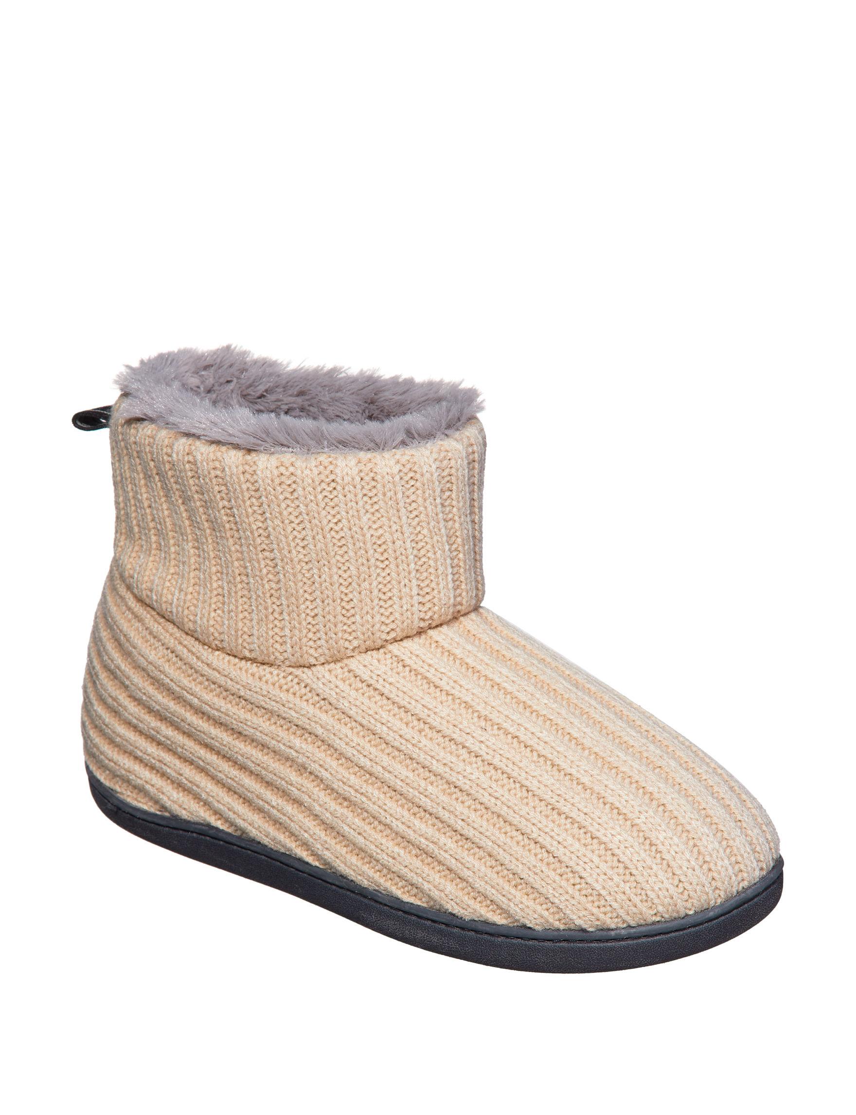 Hanes Dark Beige Slipper Shoes