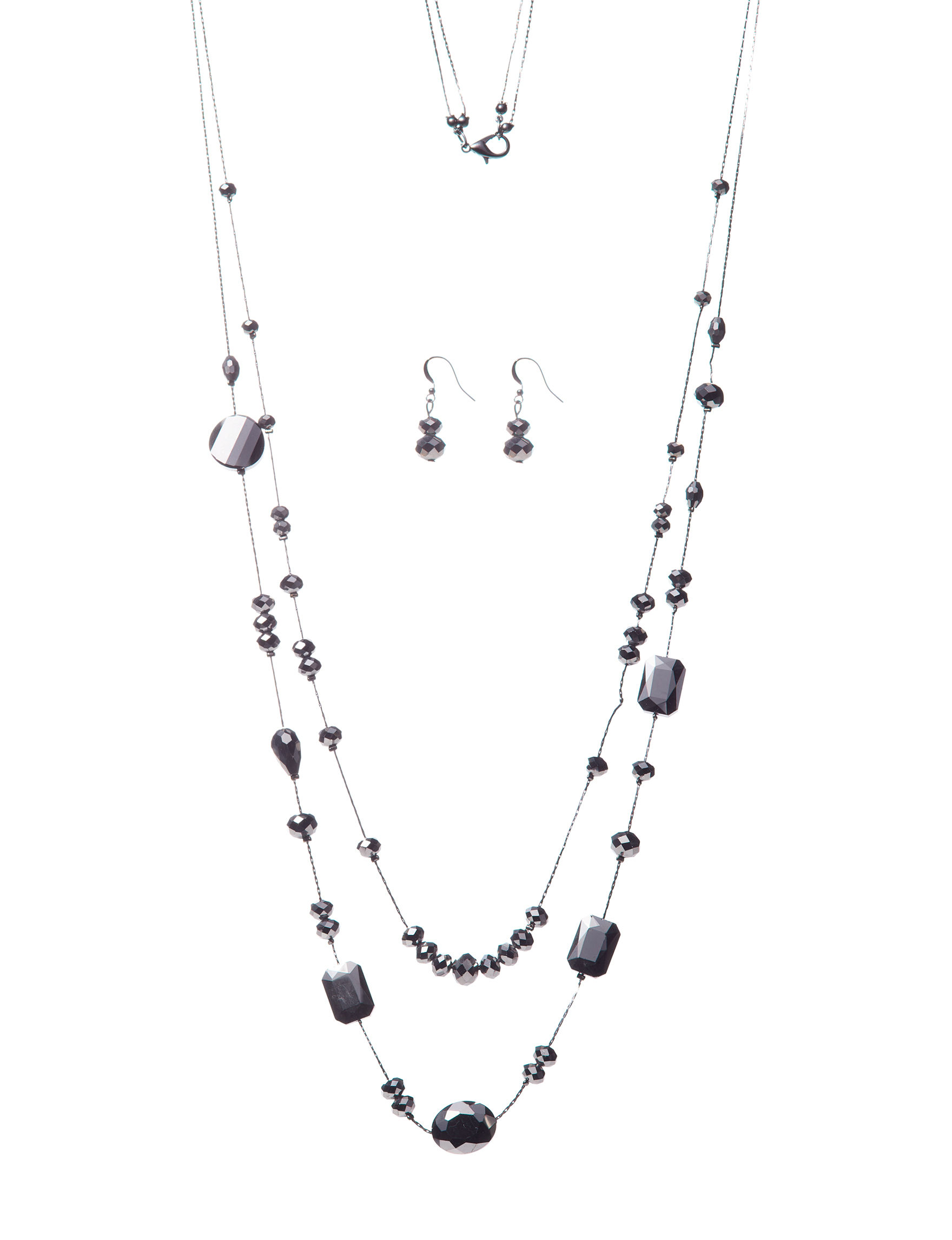 Hannah Hematite Earrings Necklaces & Pendants Fashion Jewelry