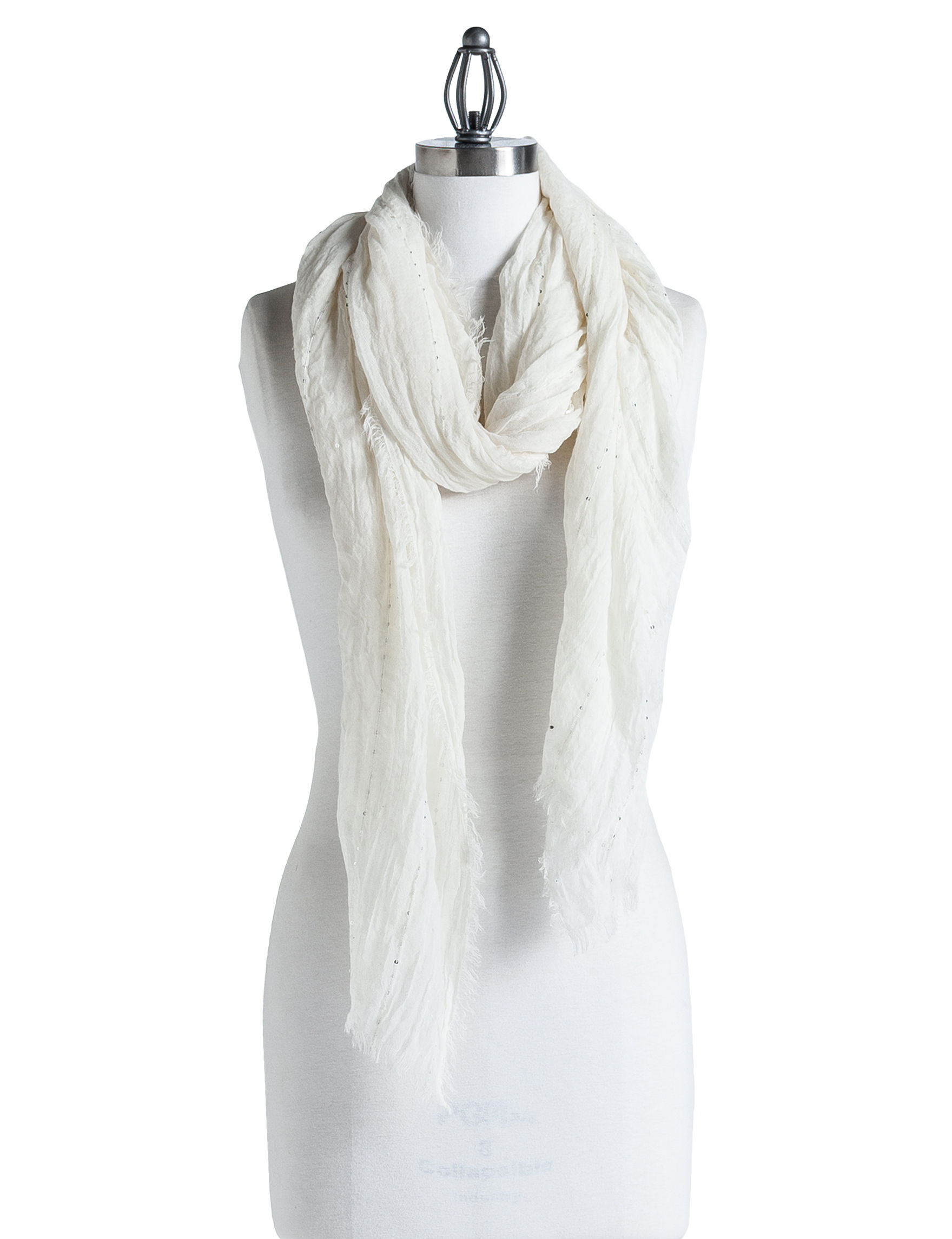 Ellen Tracy Ivory Scarves & Wraps Scarves