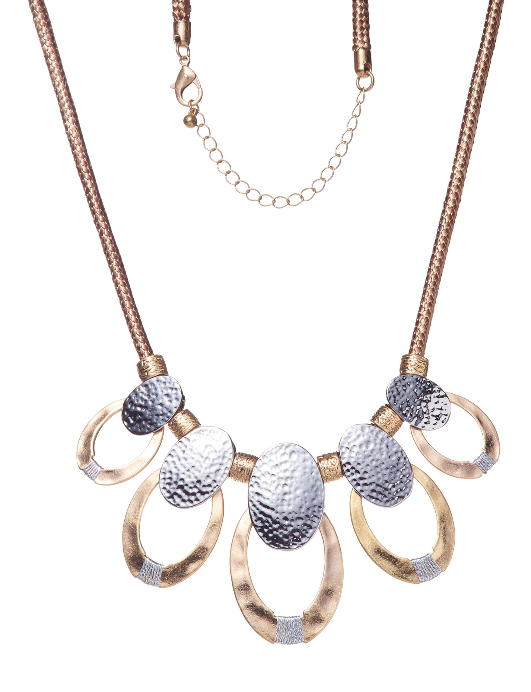 Hannah Two Tone Necklaces & Pendants Fashion Jewelry