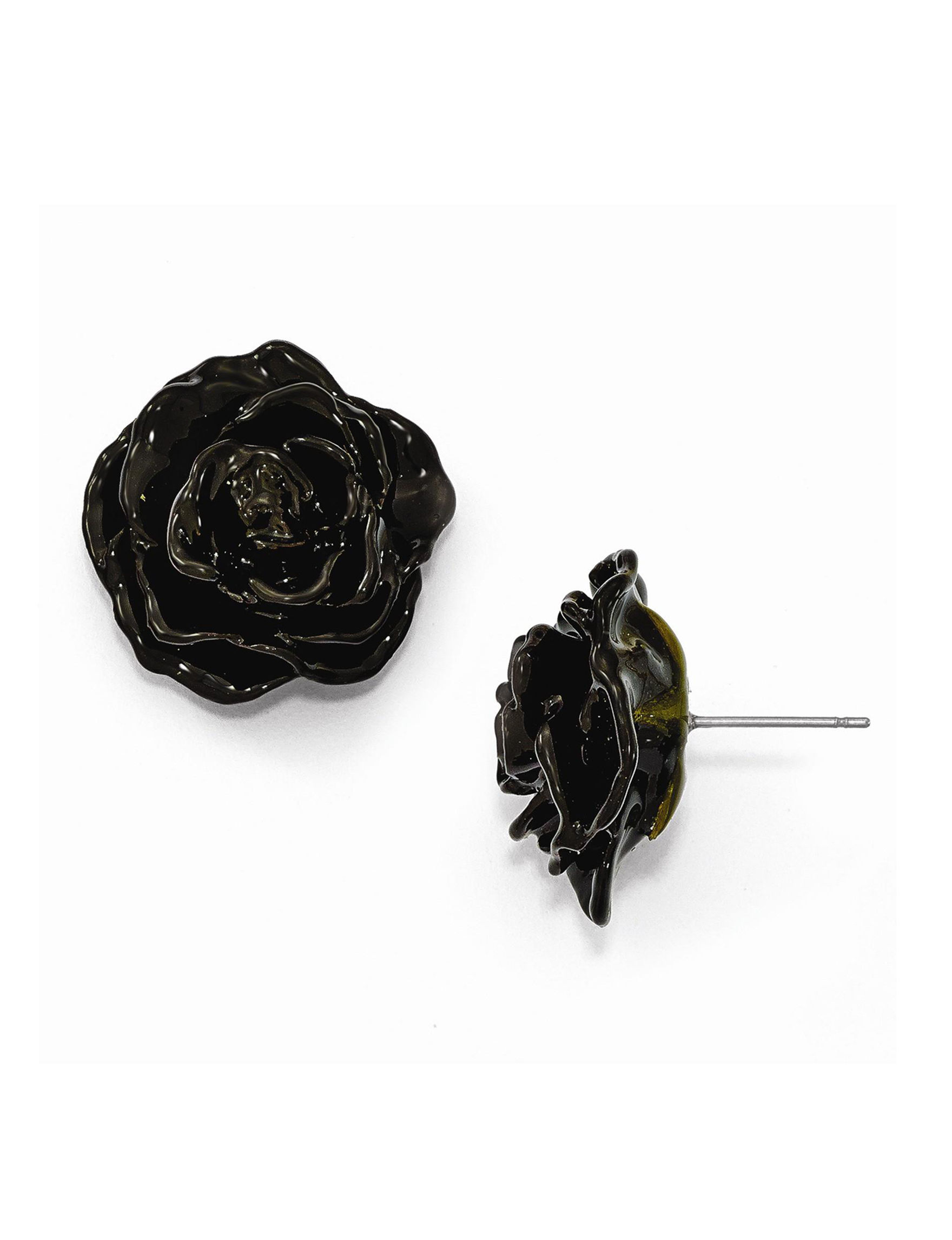 Affordable Expressions Black Studs Earrings Fine Jewelry