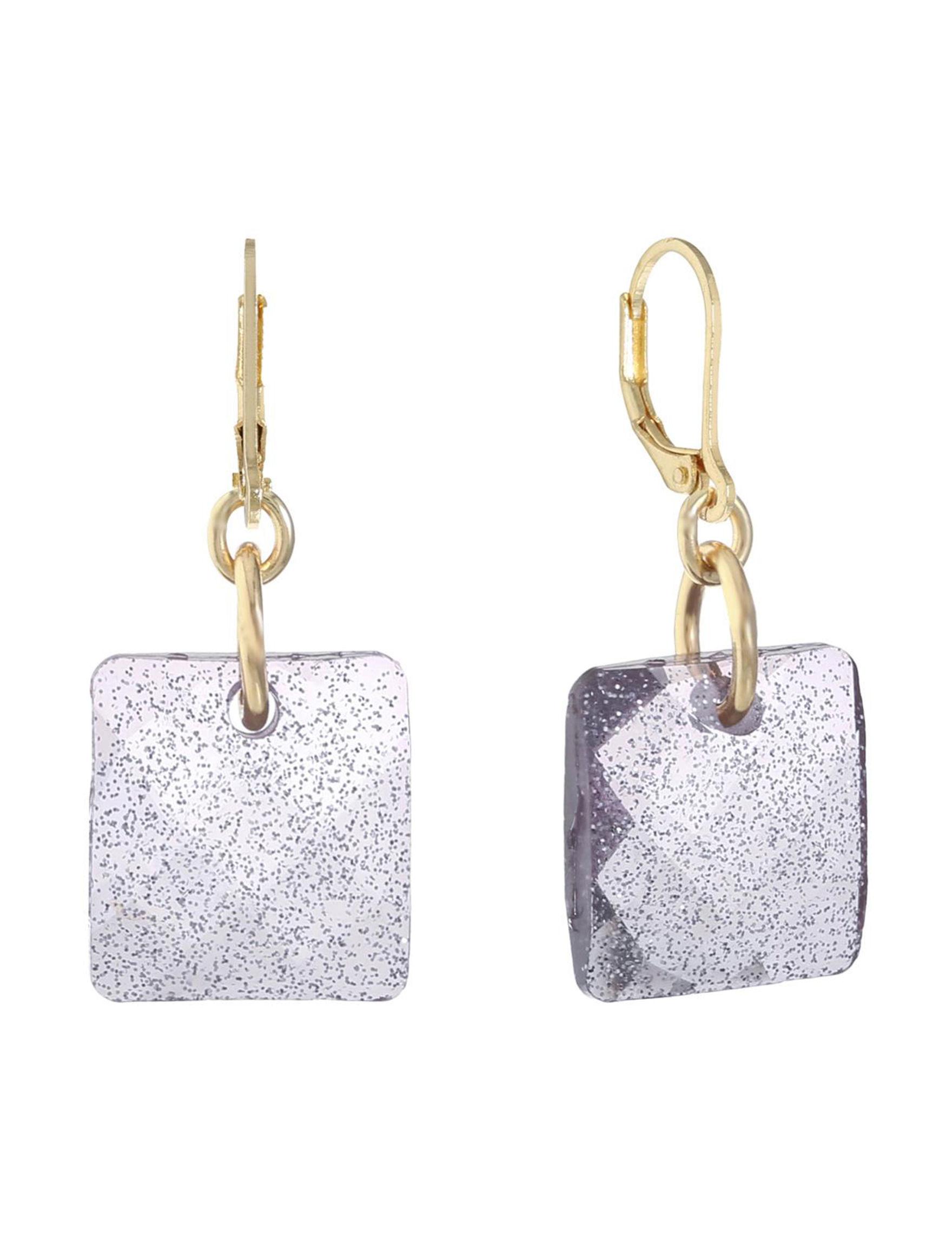 Gloria Vanderbilt Glitter Drops Earrings Fashion Jewelry