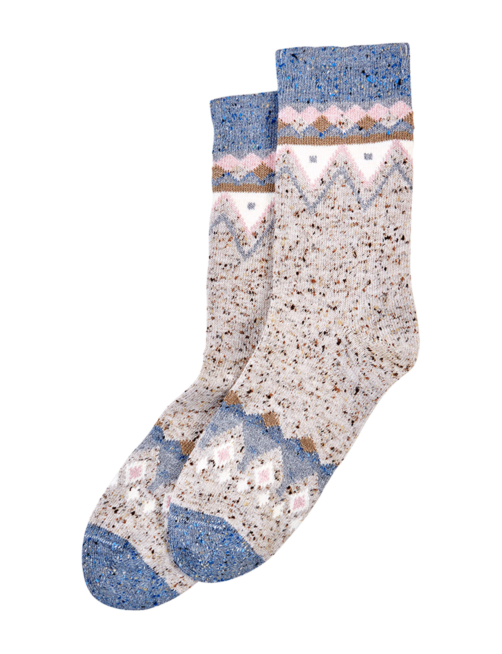 Hue Ivory Multi Socks