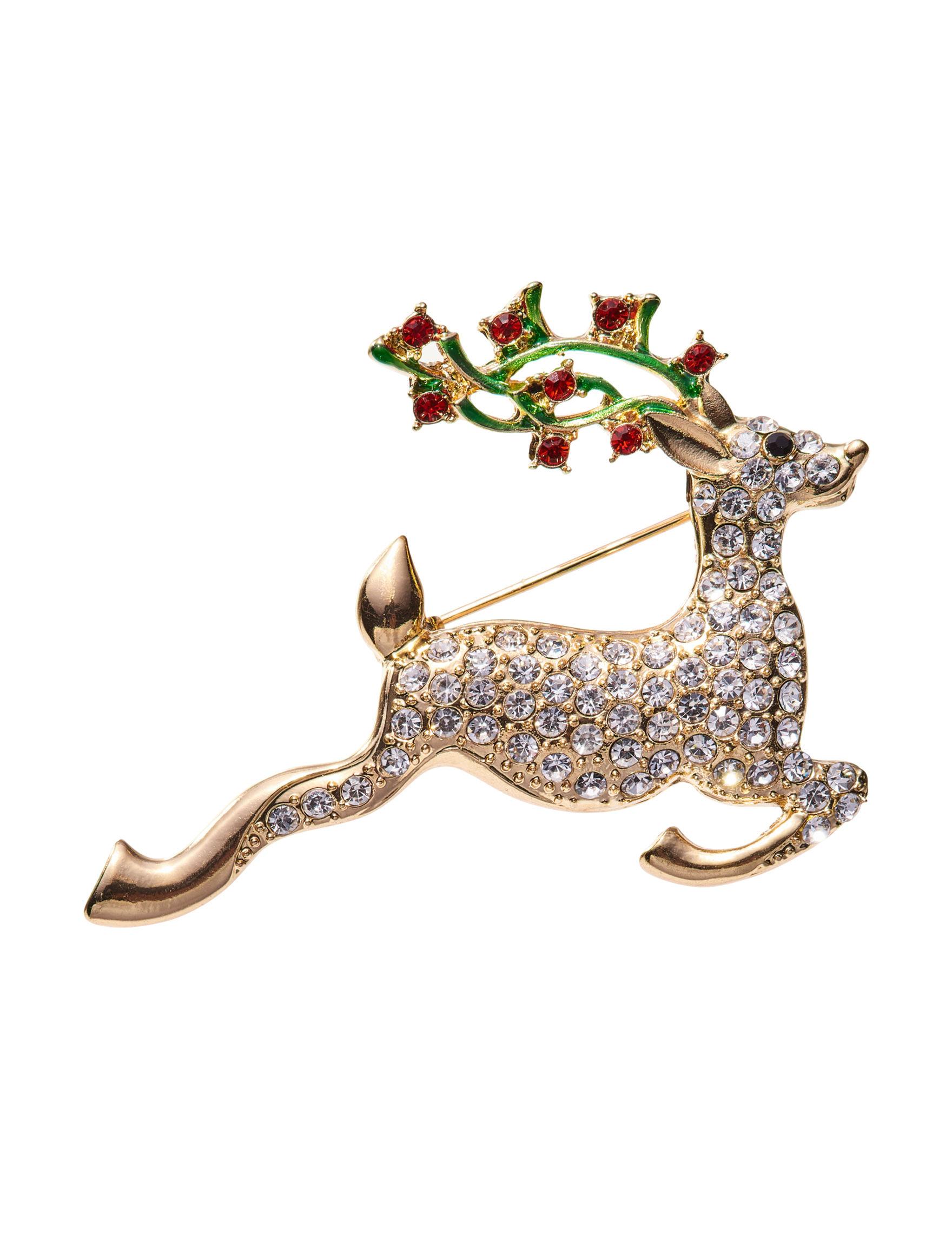 Hannah Gold / Crystal Pins Fashion Jewelry