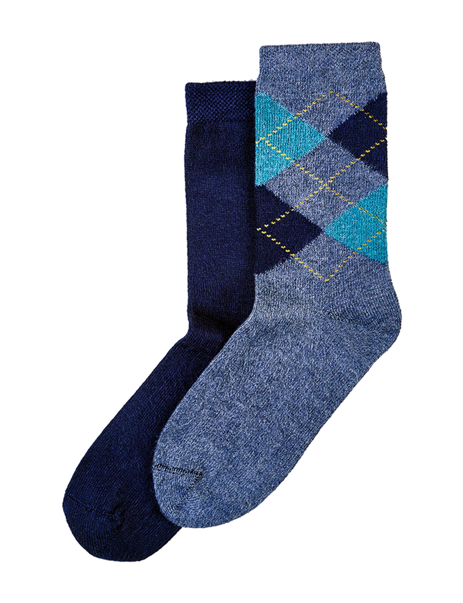 Hue Heather Blue Socks