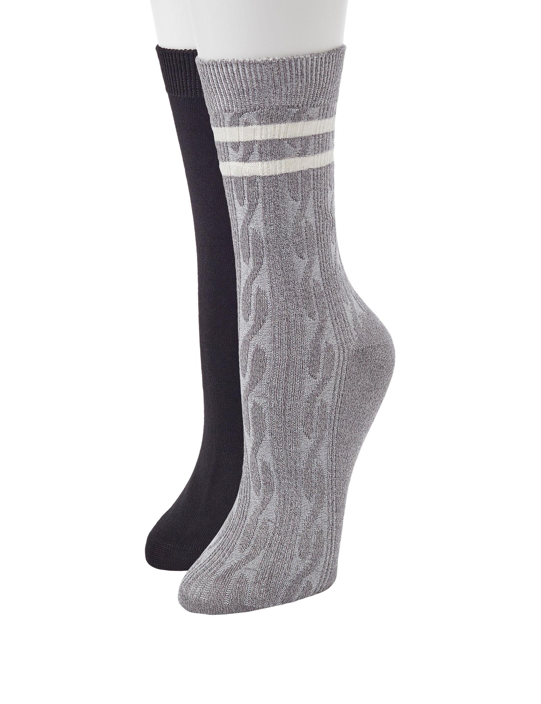 Keep Your Socks On Black / Ivory Socks