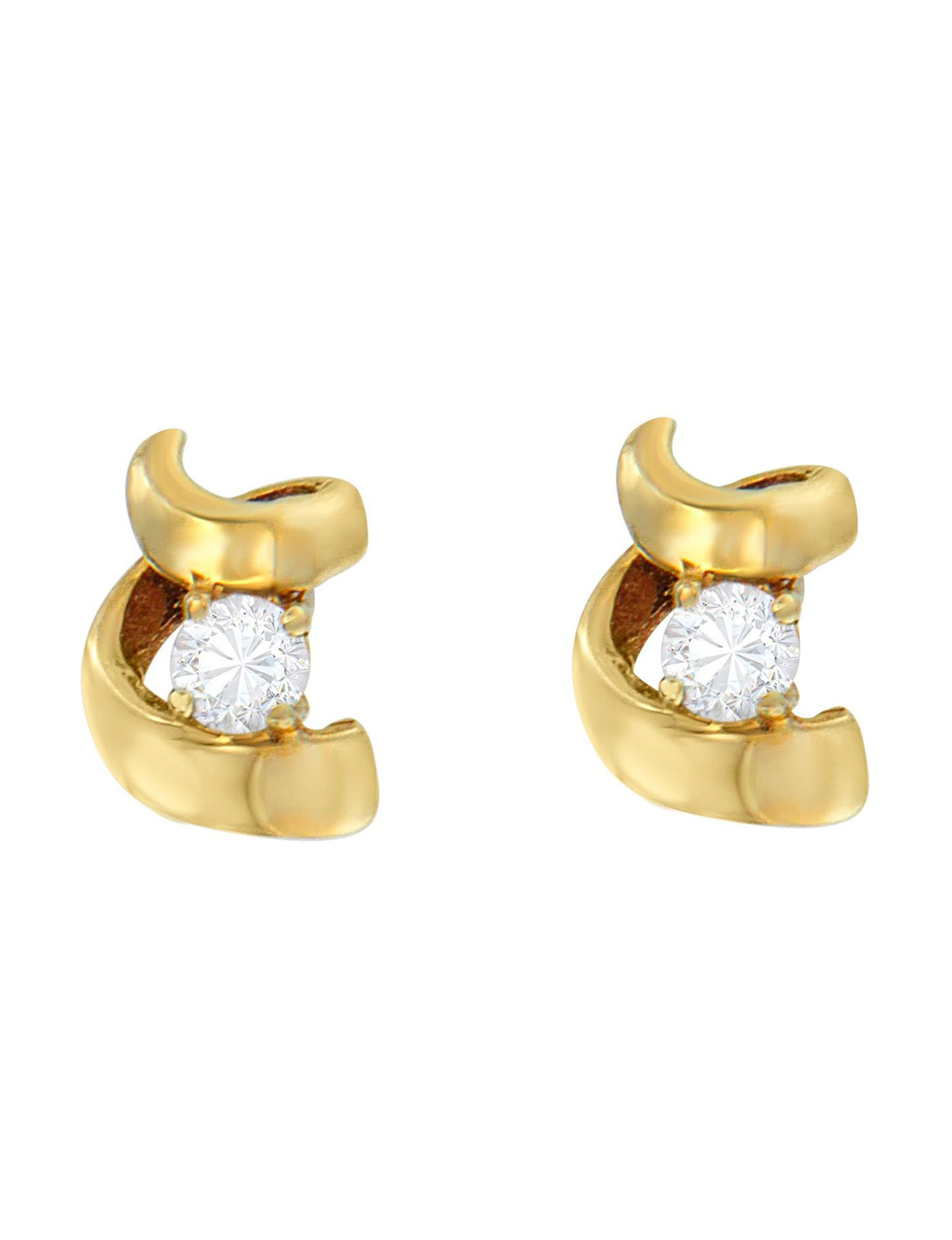 Original Classics Gold Studs Earrings Fine Jewelry