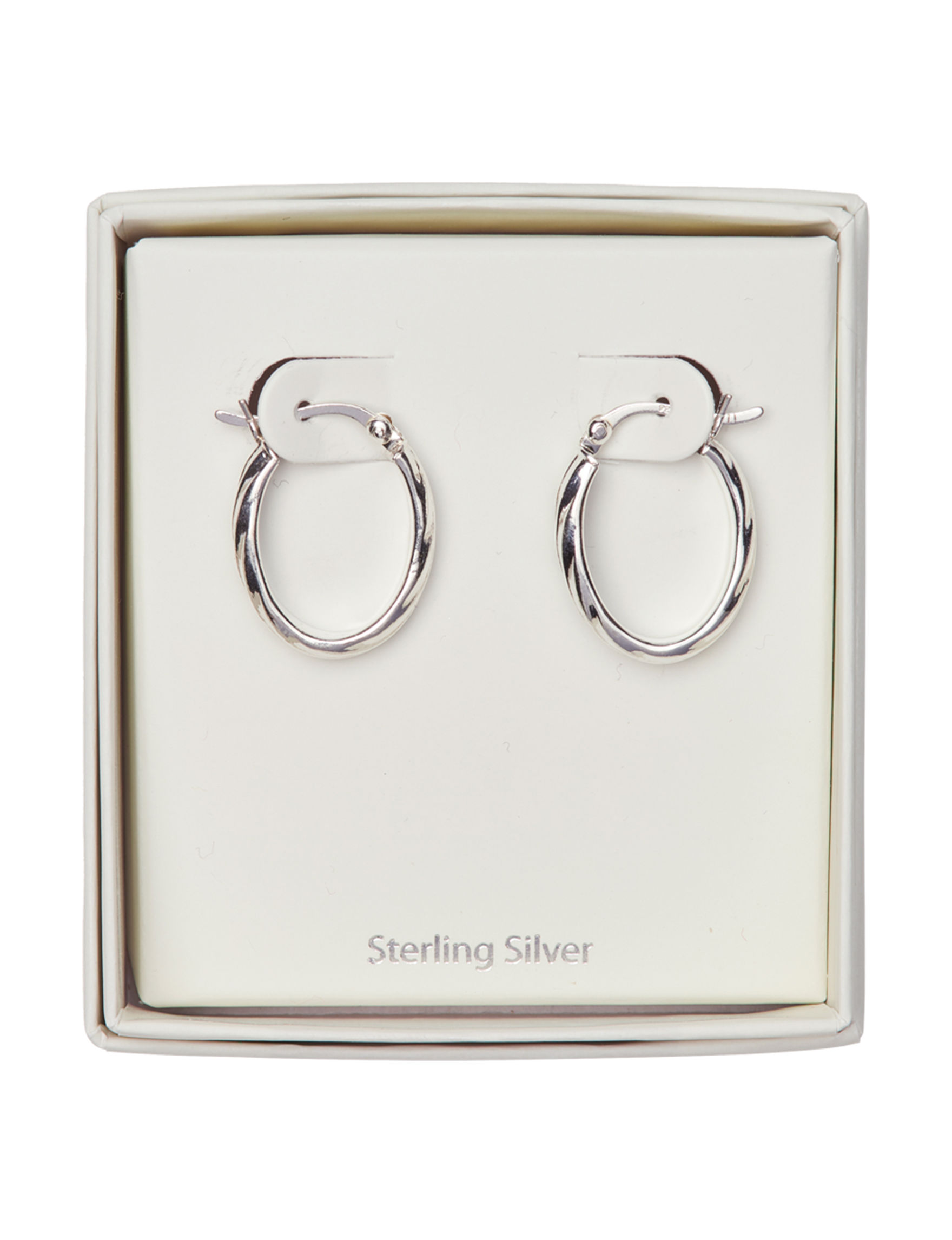 Marsala Sterling Silver Hoops Earrings Fine Jewelry