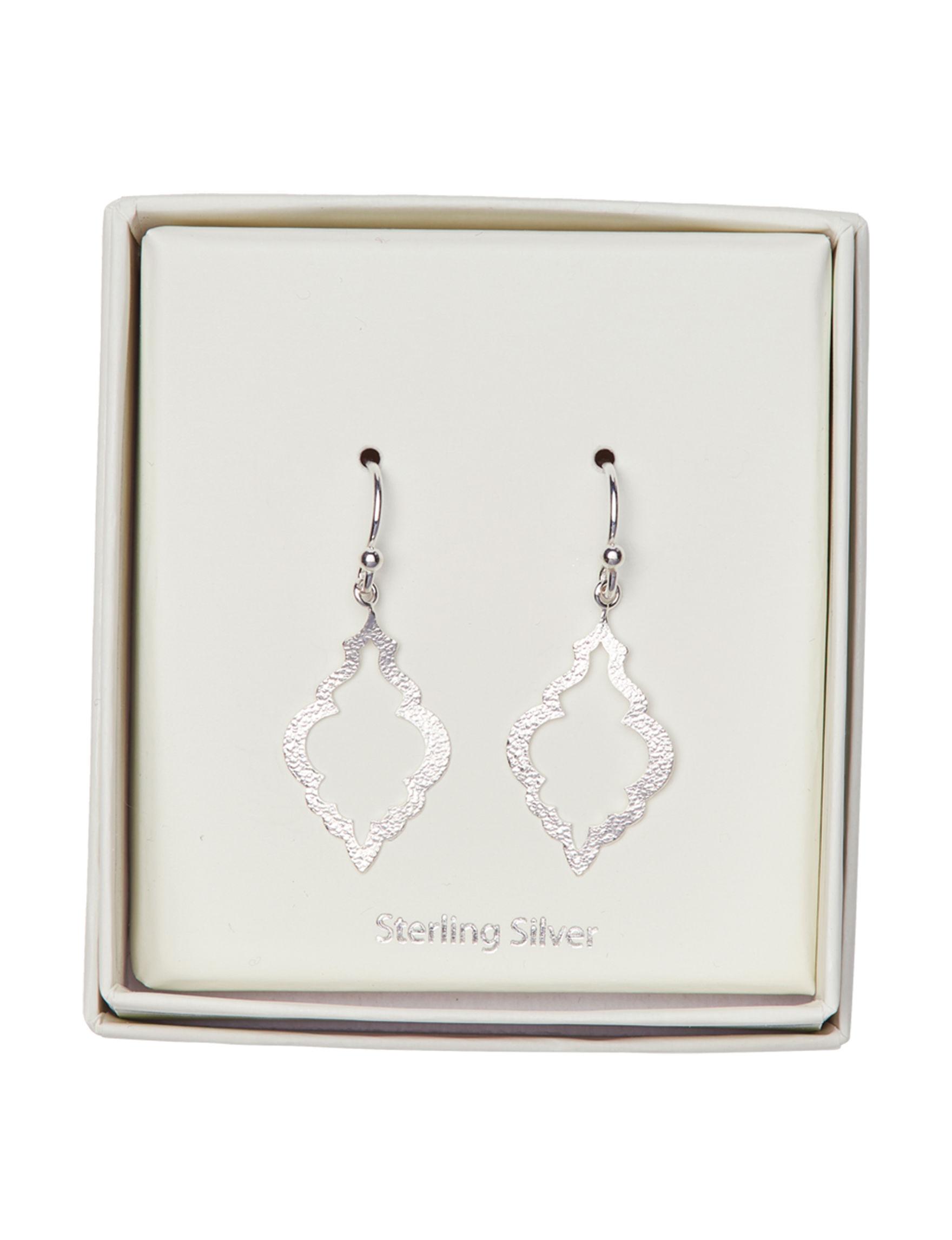 Marsala Sterling Silver Drops Earrings Fine Jewelry