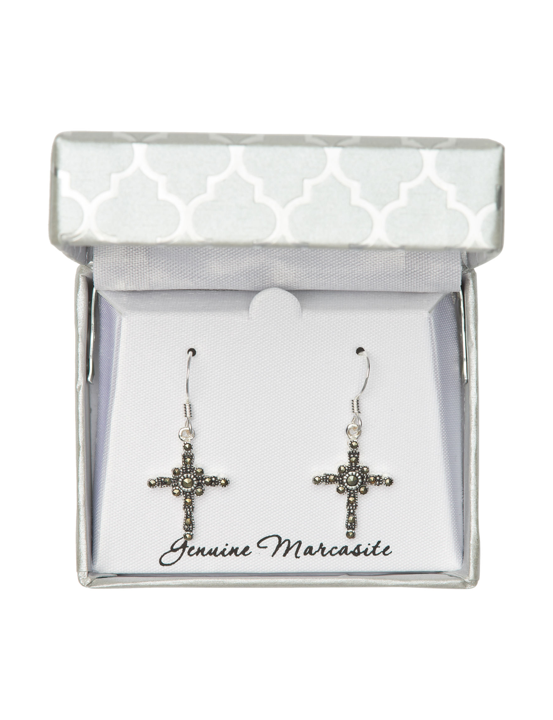 Marsala Marcasite Drops Earrings Fine Jewelry
