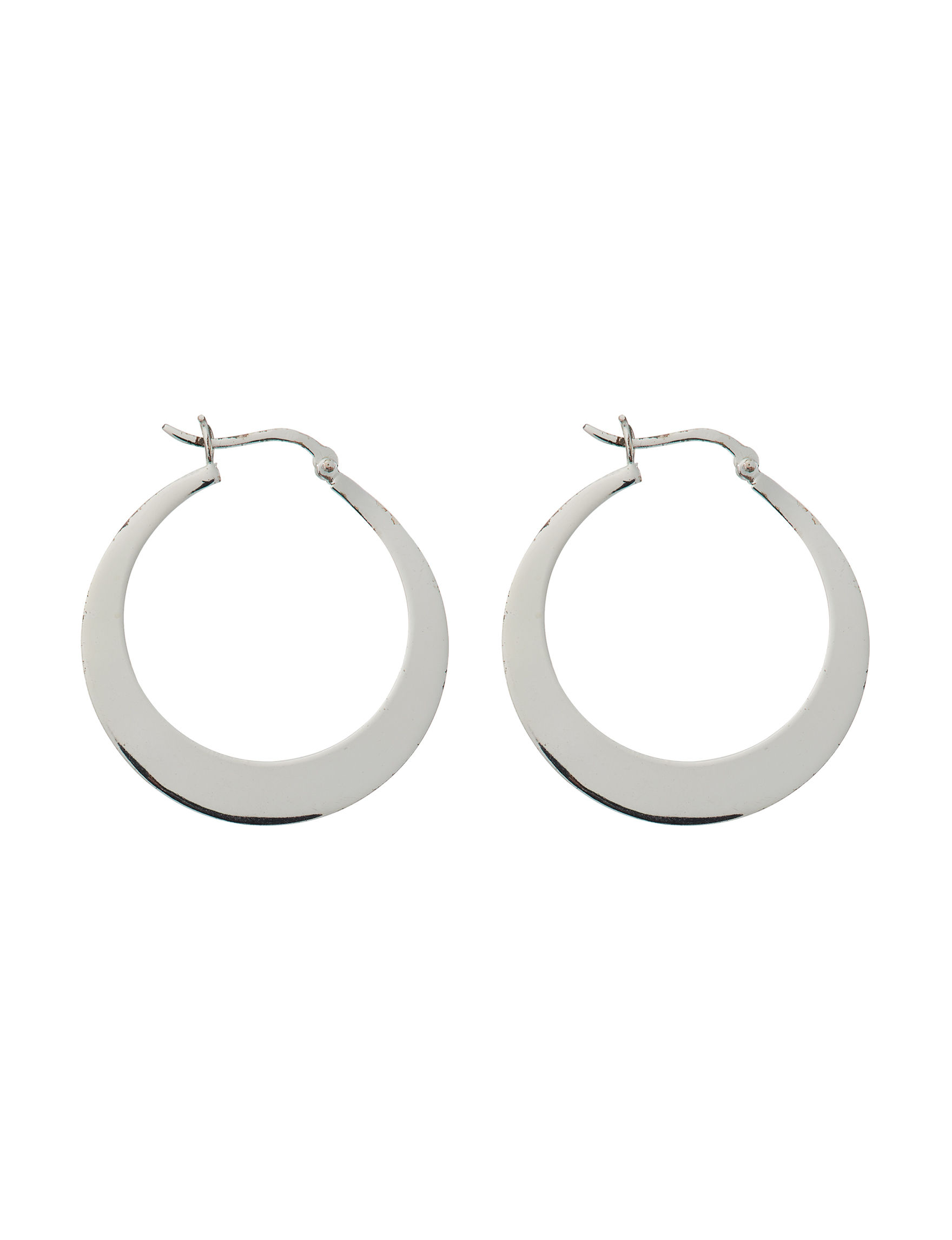 Marsala Fine Silver Plated Hoops Earrings Fine Jewelry