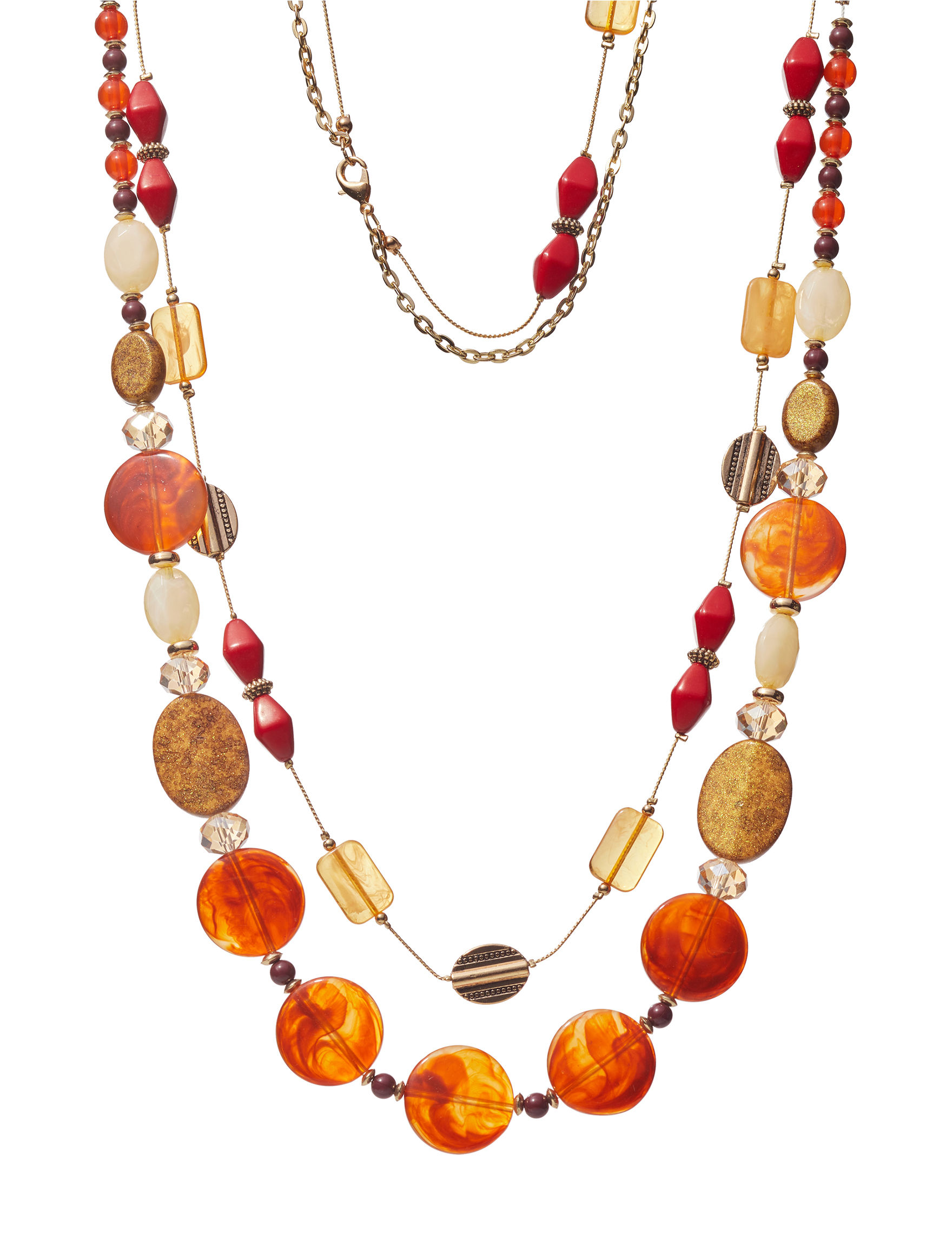 Hannah Red Multi Necklaces & Pendants Fashion Jewelry