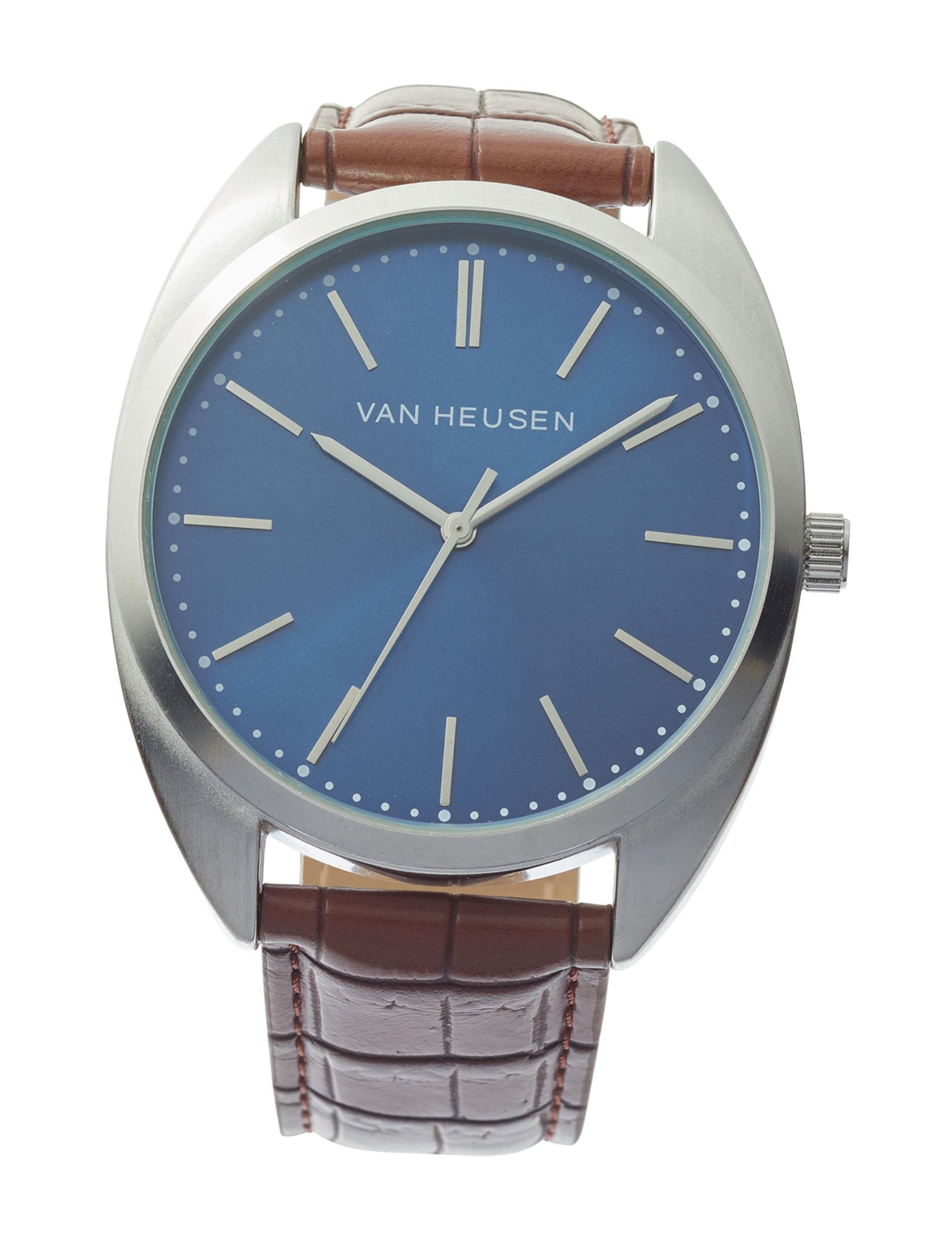 Van Heusen Brown Fashion Watches