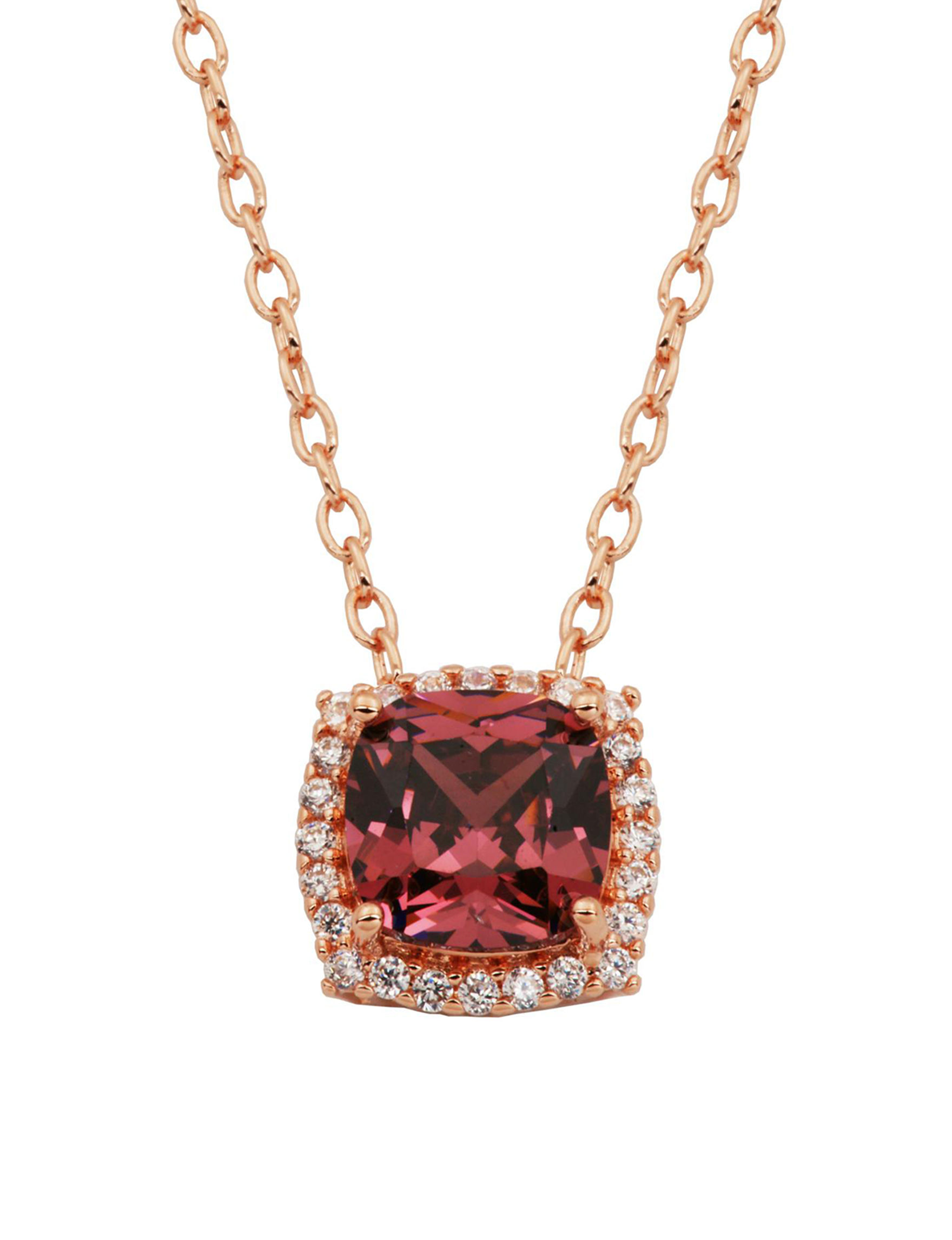 PAJ INC. Red Crystal Necklaces & Pendants Fine Jewelry