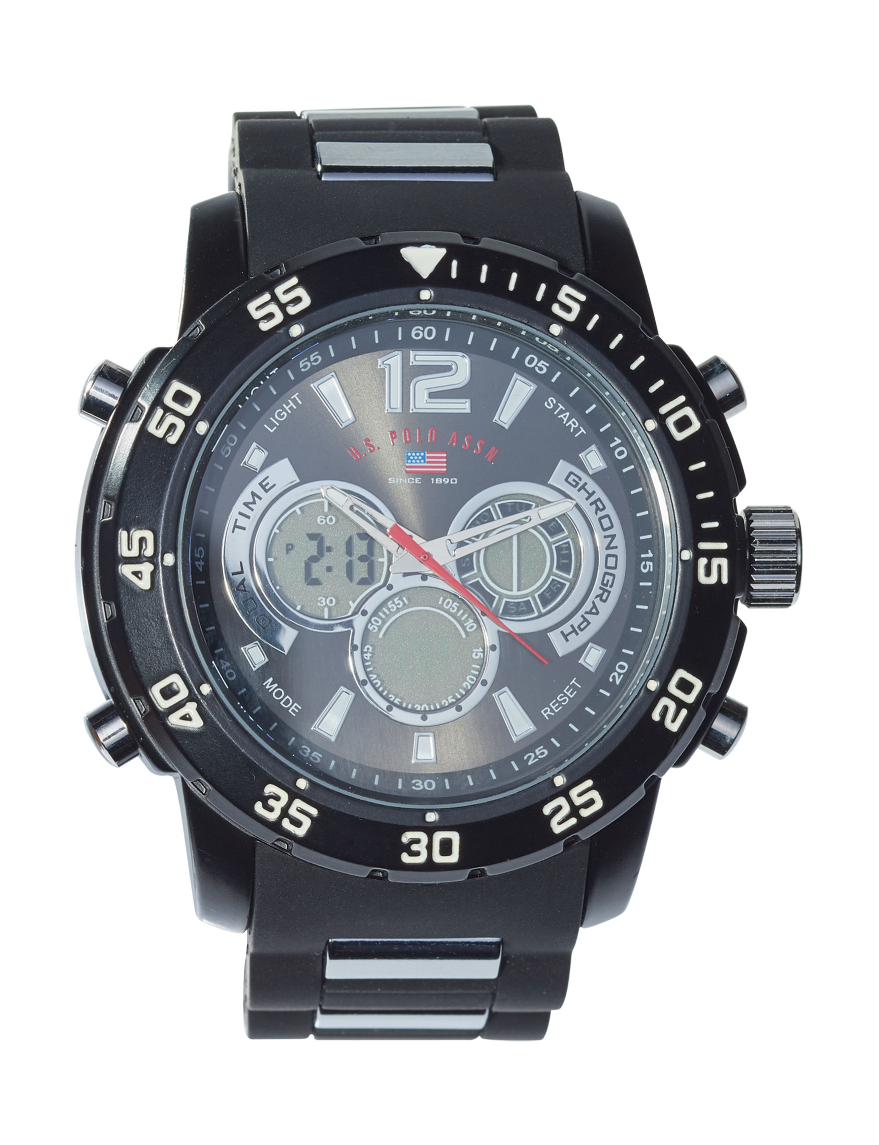 U.S. Polo Assn. Black Fashion Watches