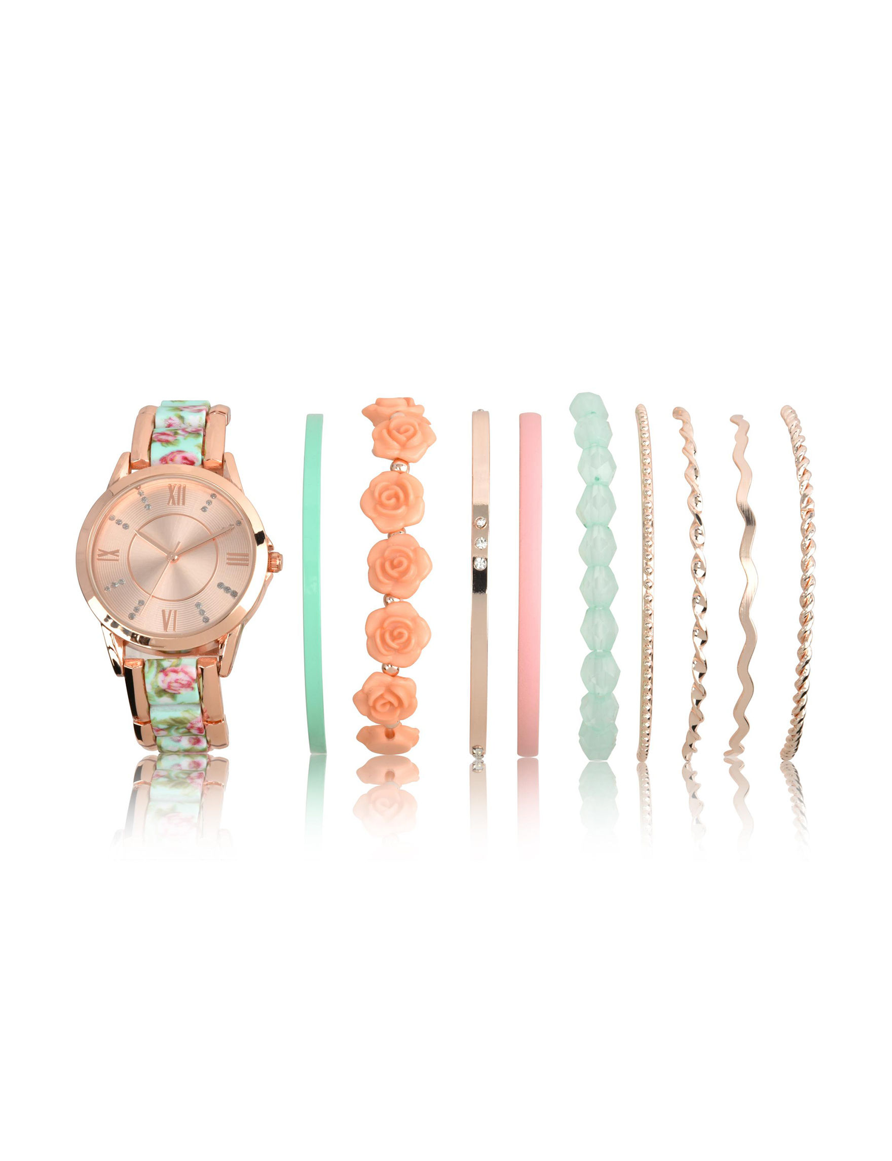 Accutime Rose Gold Fashion Watches