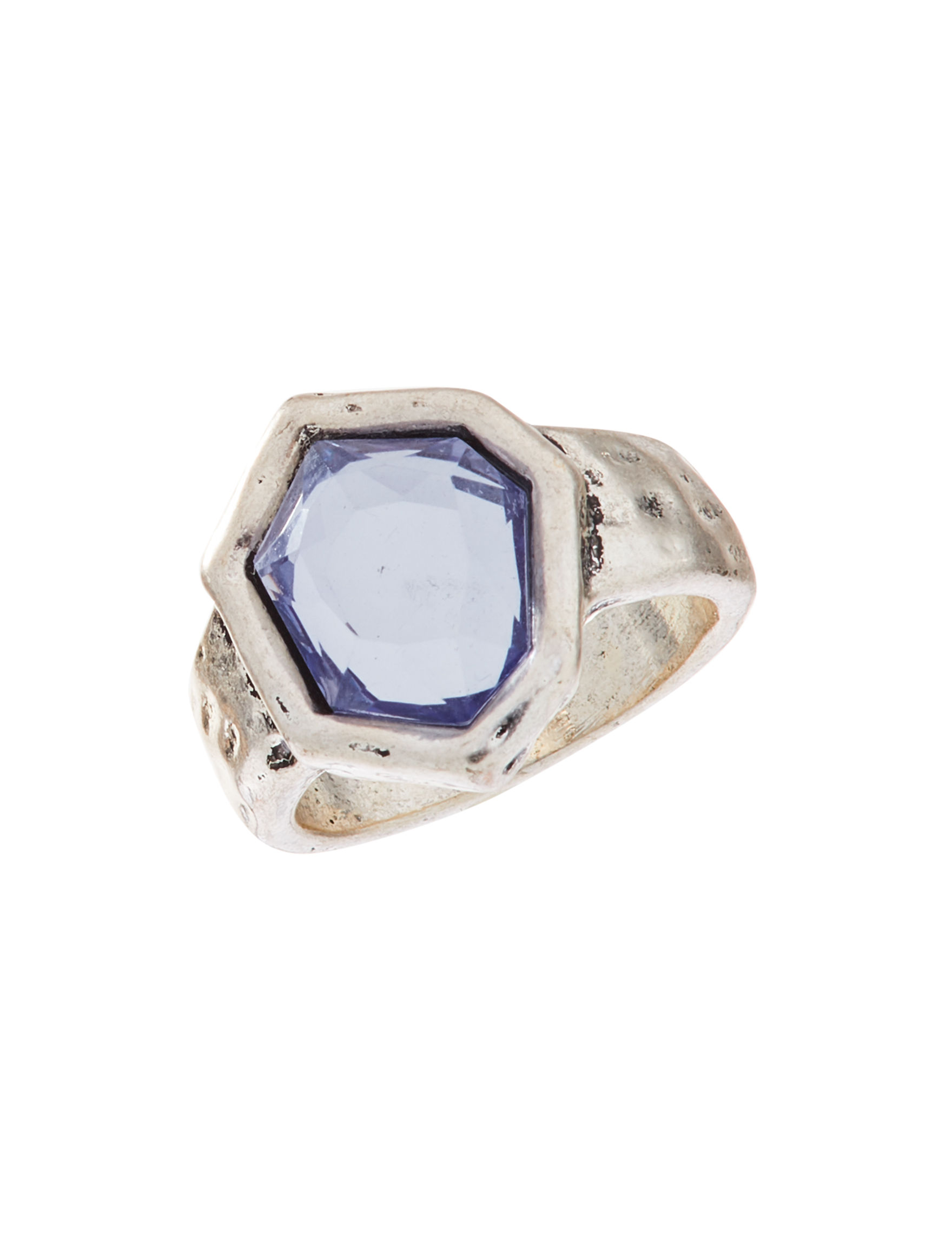 Hannah Silver / Blue Stone Rings Fashion Jewelry
