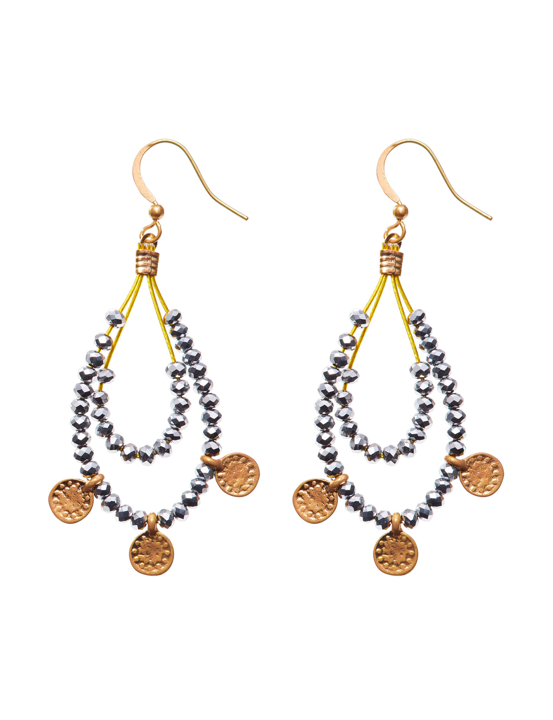Hannah Hematite Drops Earrings Fashion Jewelry
