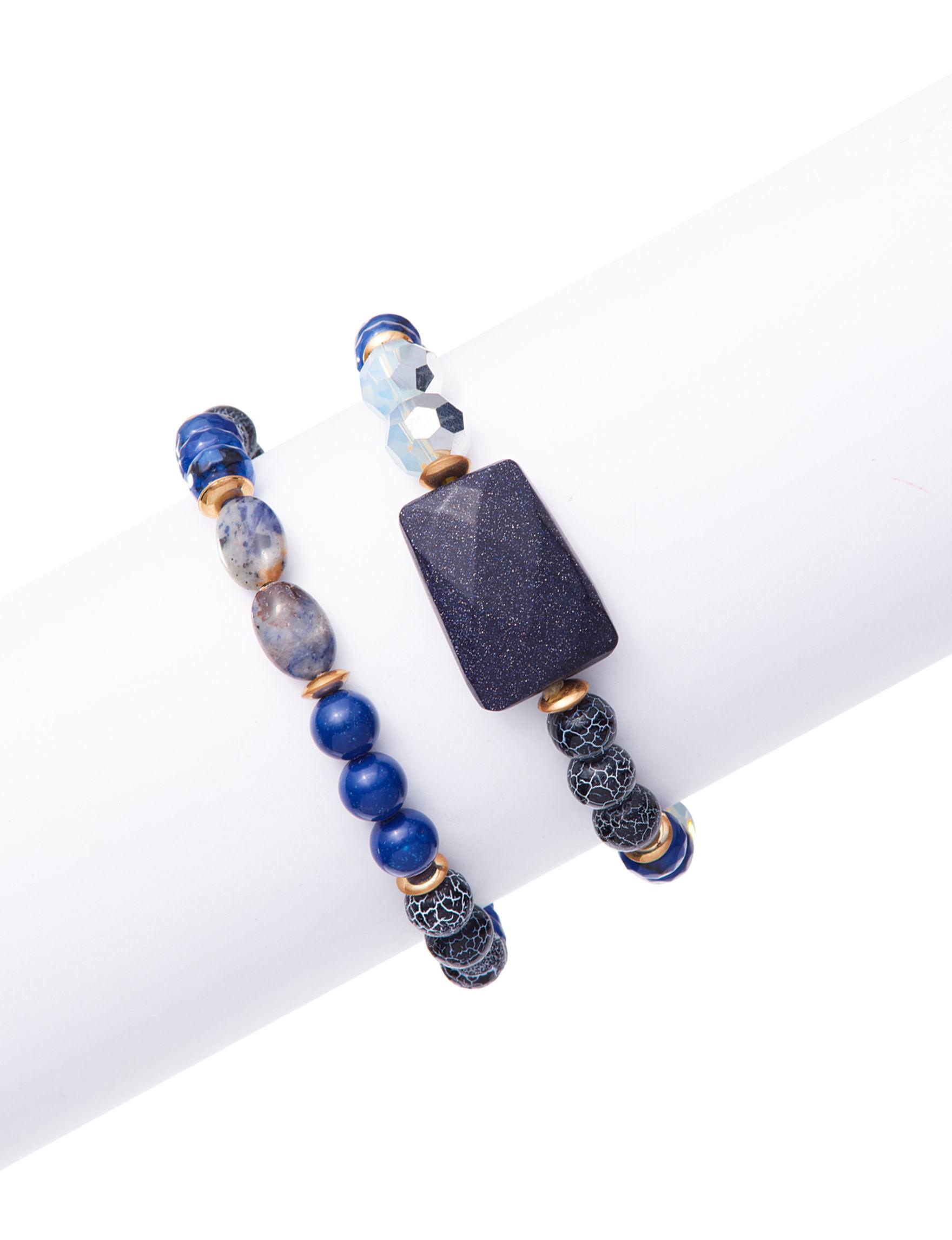 Hannah Blue Stone Bracelets Fashion Jewelry