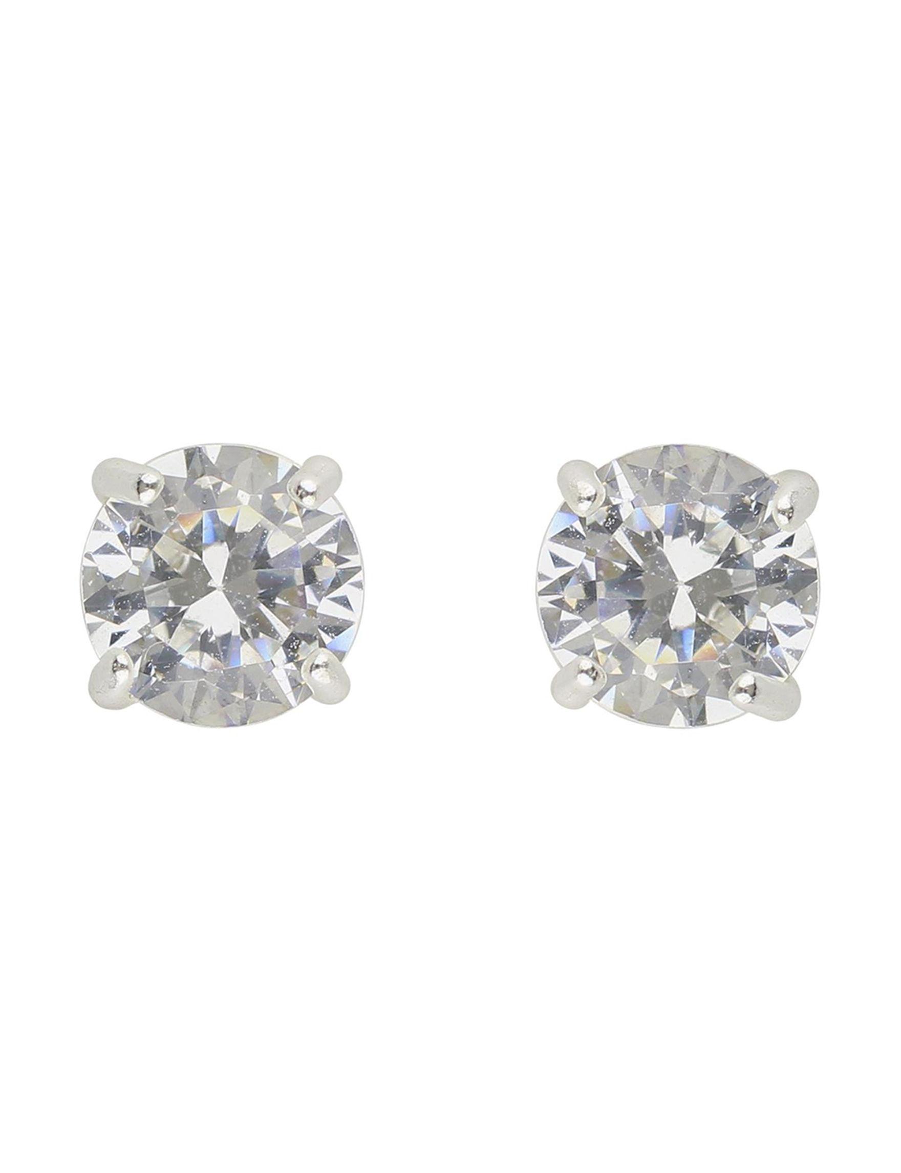 Sunstone Sterling Silver Studs Earrings Fine Jewelry