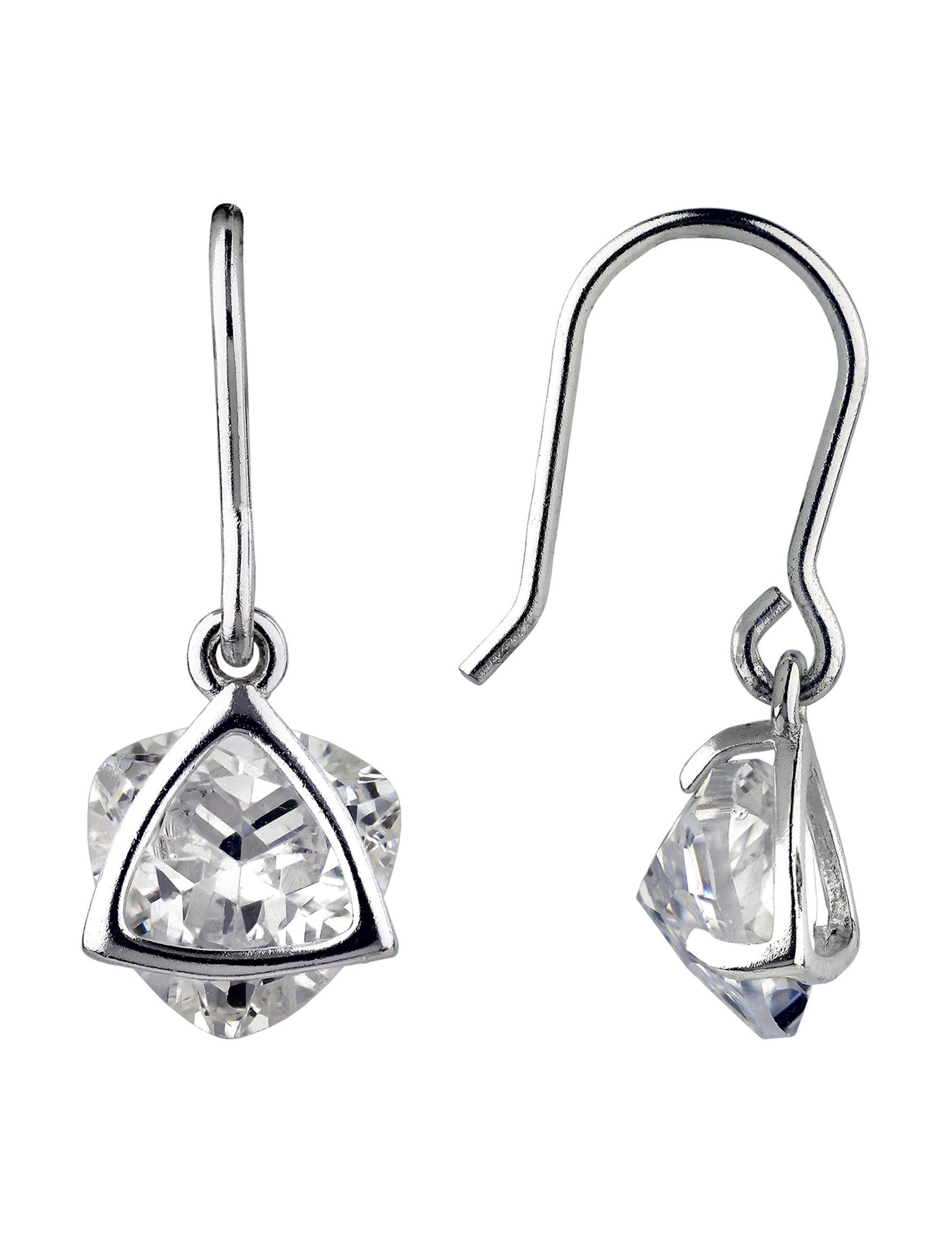 Sunstone Sterling Silver Drops Earrings Fine Jewelry
