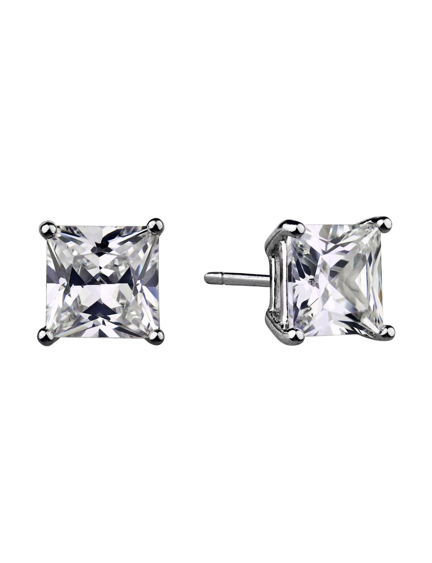 Sunstone Sterling Silver Studs Earrings Fine Jewelry