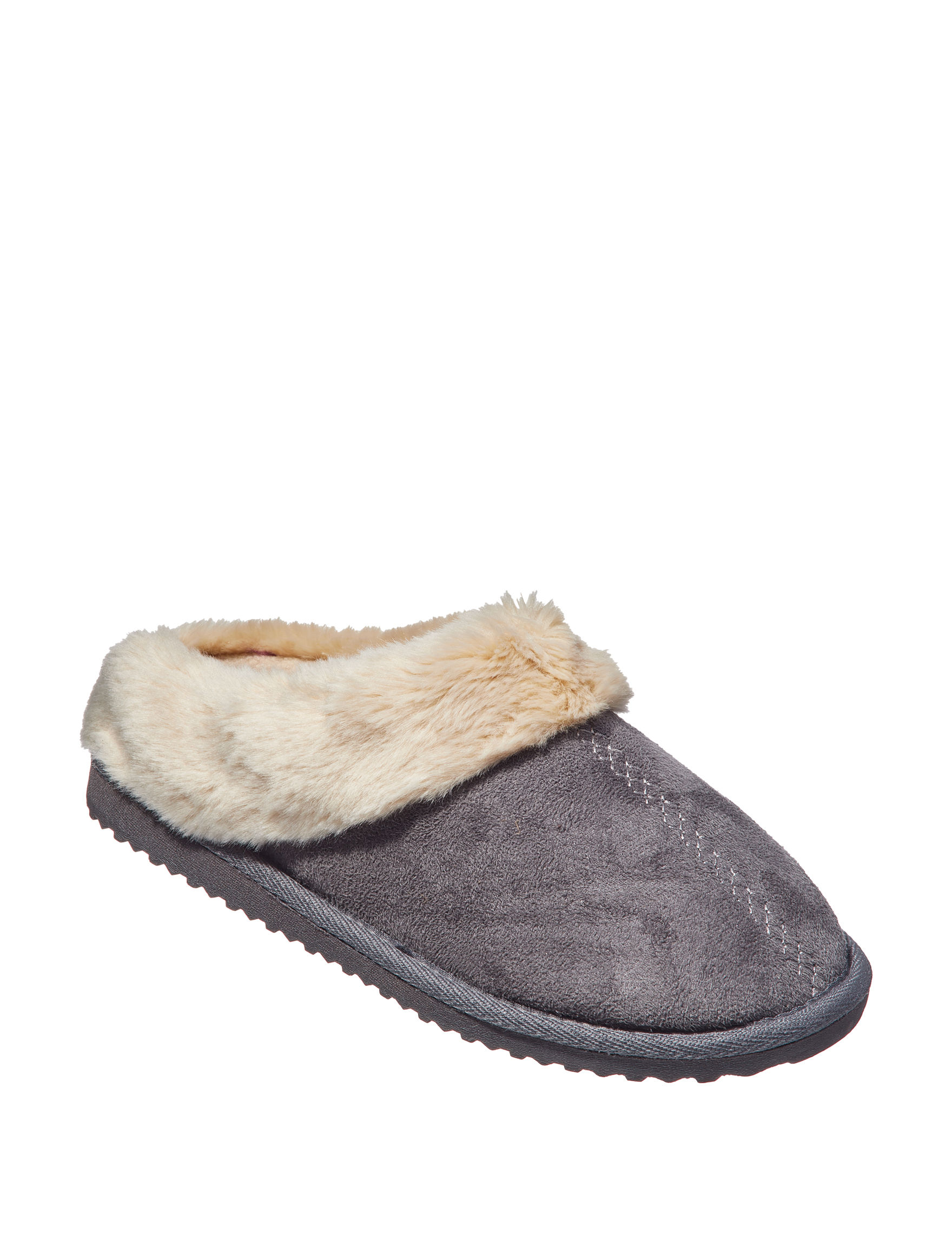Sharper Image Grey Slipper Shoes