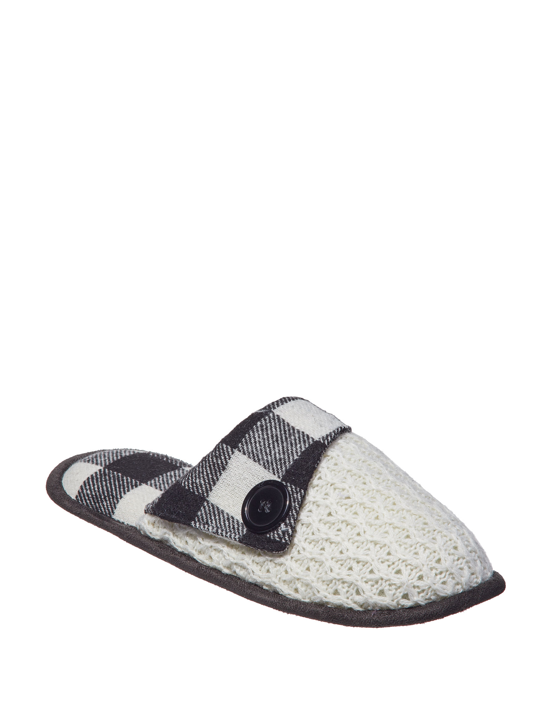 Sharper Image Black / White Slipper Shoes