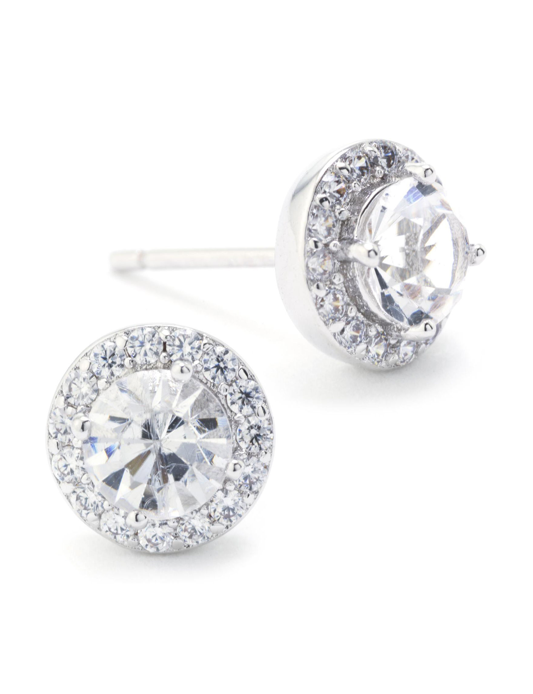 Athra Fine Silver Plated Studs Earrings Fine Jewelry