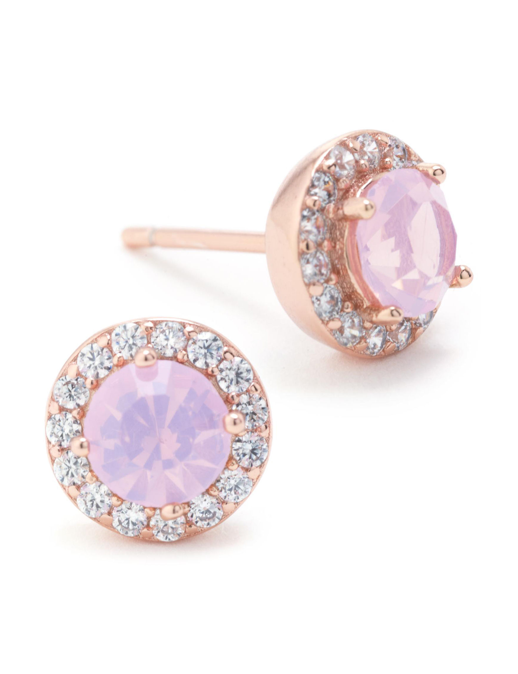 Athra Rose Gold Studs Earrings Fine Jewelry