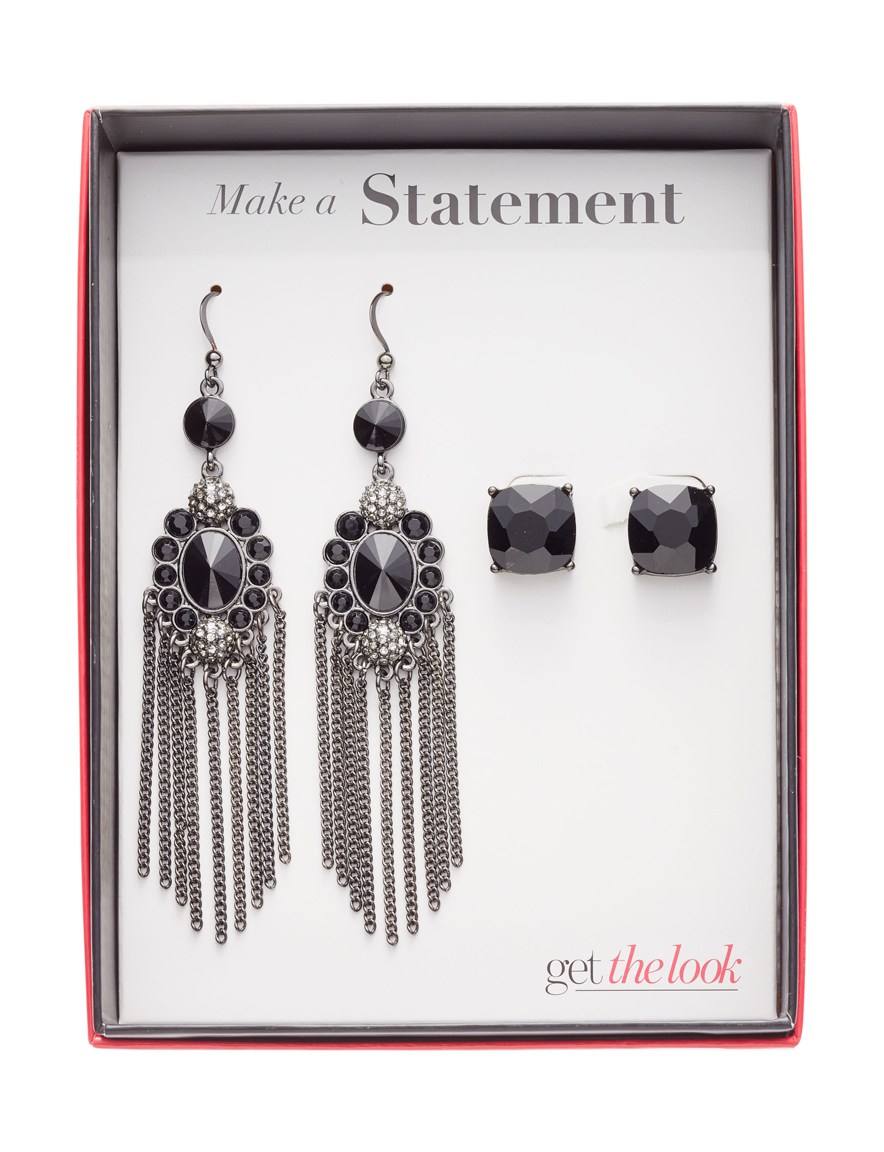 Tanya Black Earrings Fashion Jewelry