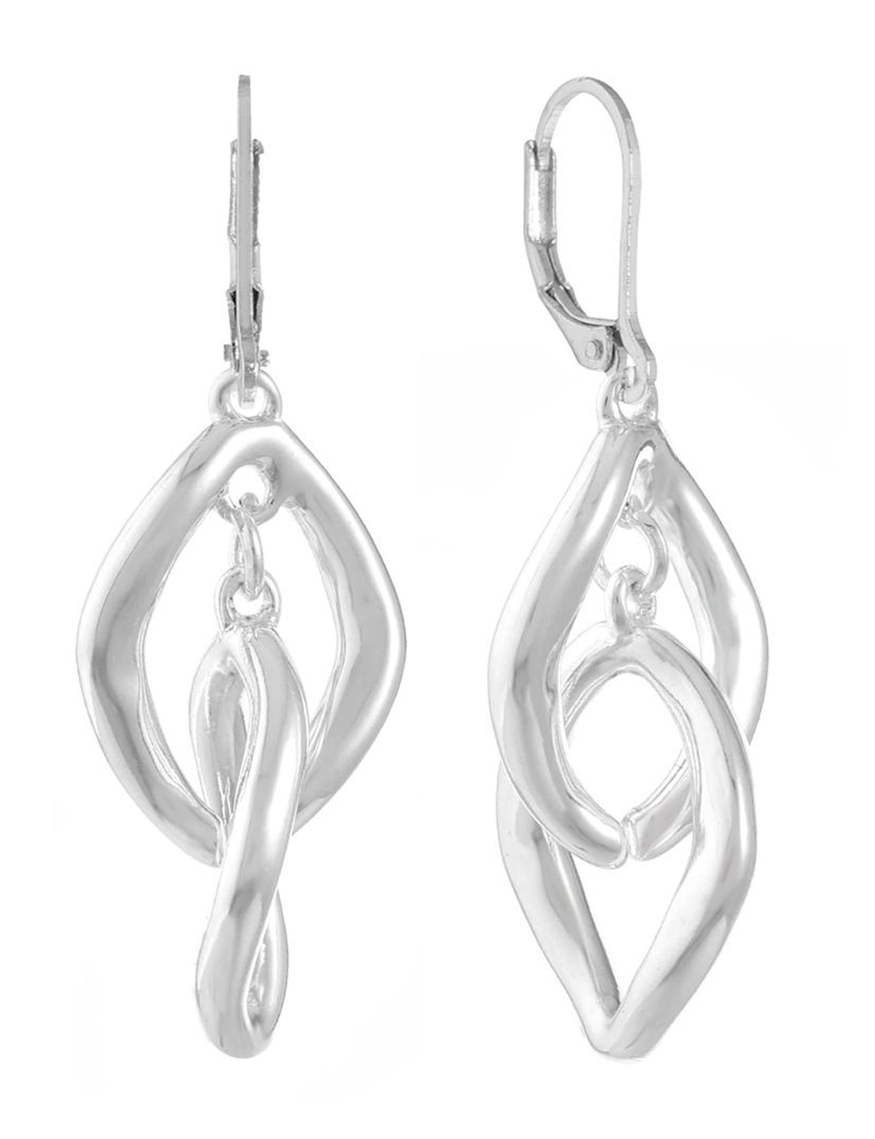Gloria Vanderbilt Silver Drops Earrings Fashion Jewelry