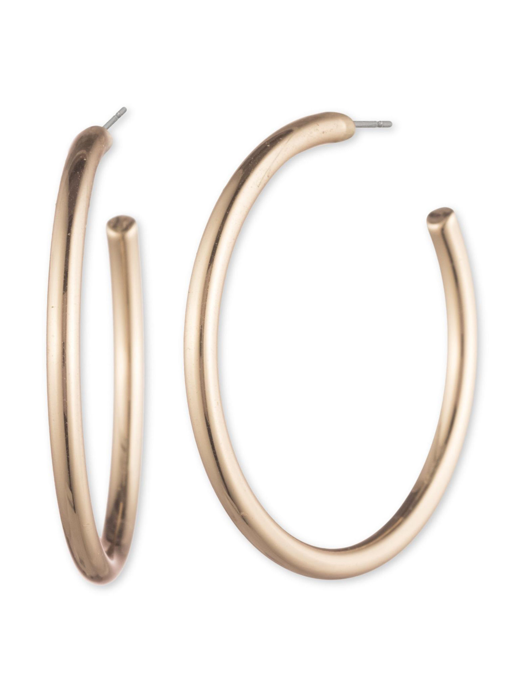 Chaps Gold Hoops Earrings Fashion Jewelry