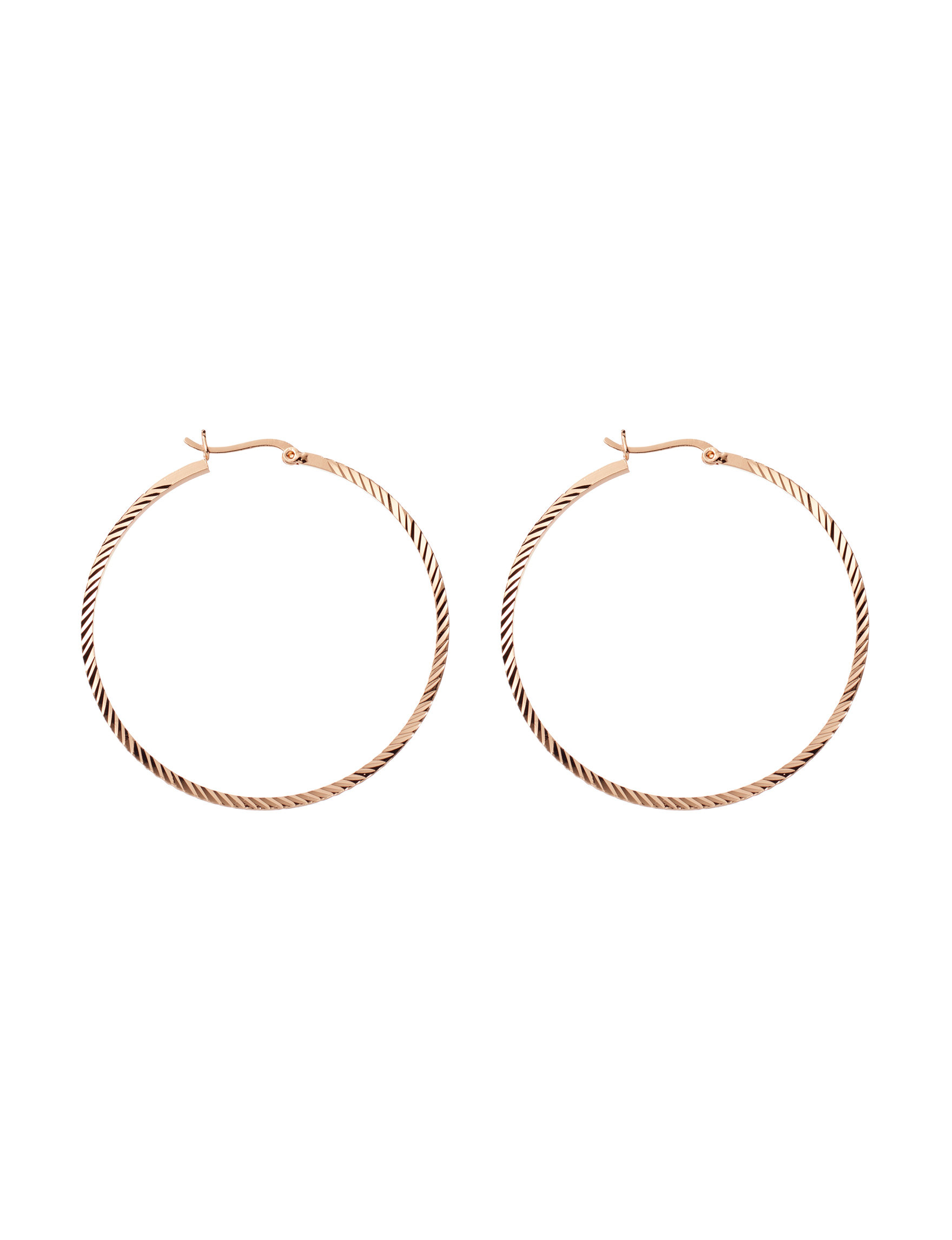 Marsala Rose Gold Hoops Earrings Fine Jewelry