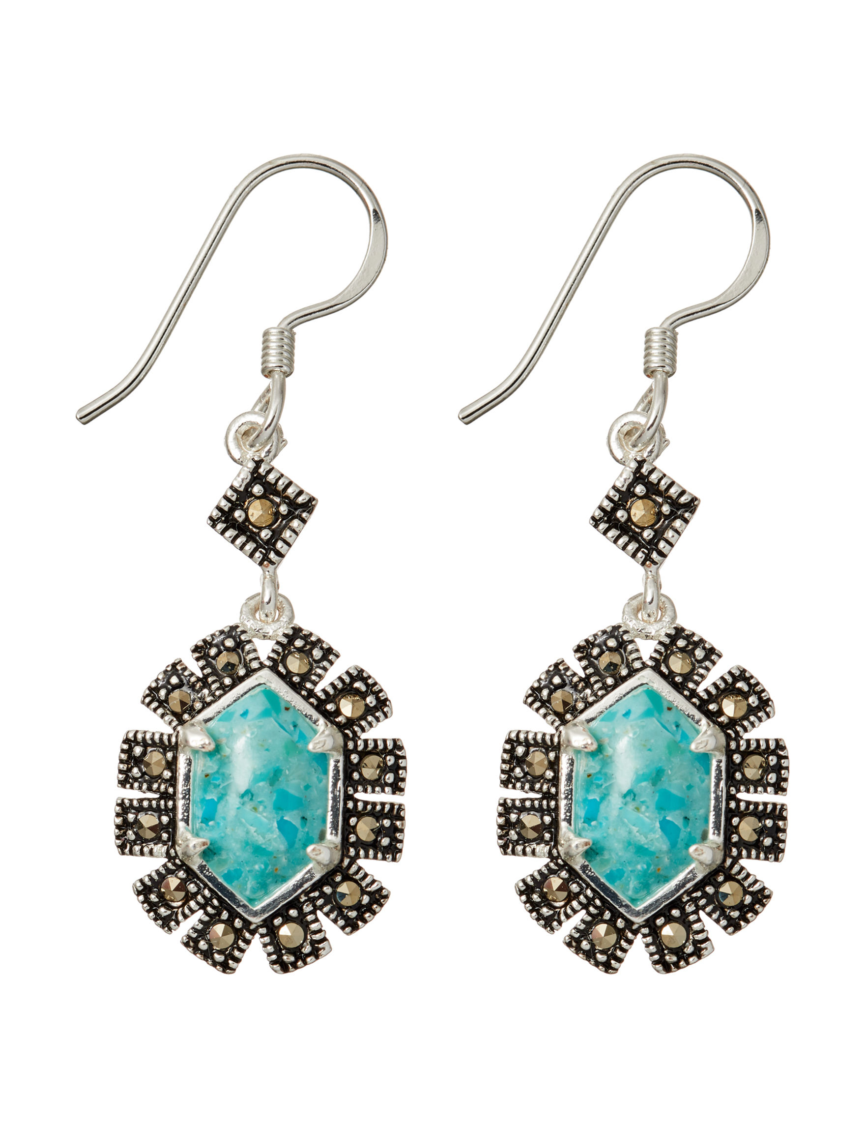 Marsala Turquoise Drops Earrings Fine Jewelry
