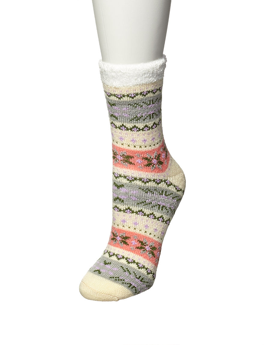 Keep Your Socks On Beige Stripe Socks