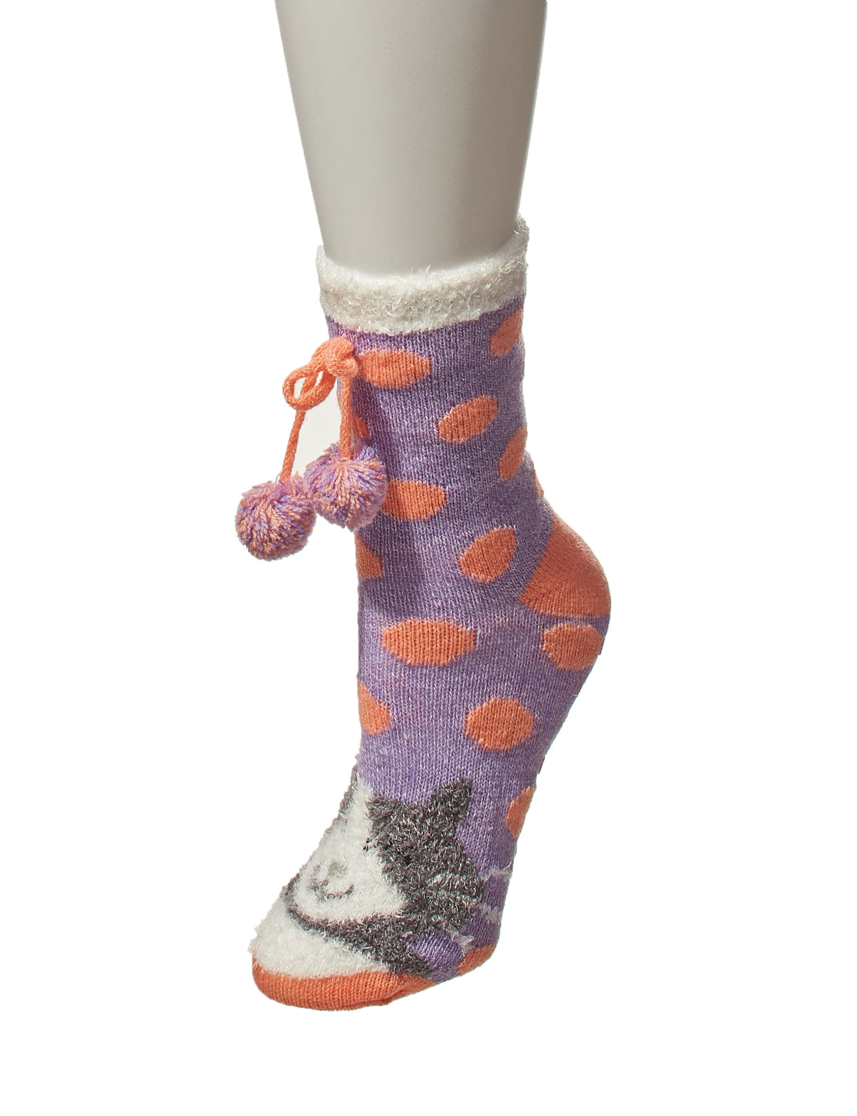 Keep Your Socks On Purple / Orange Socks