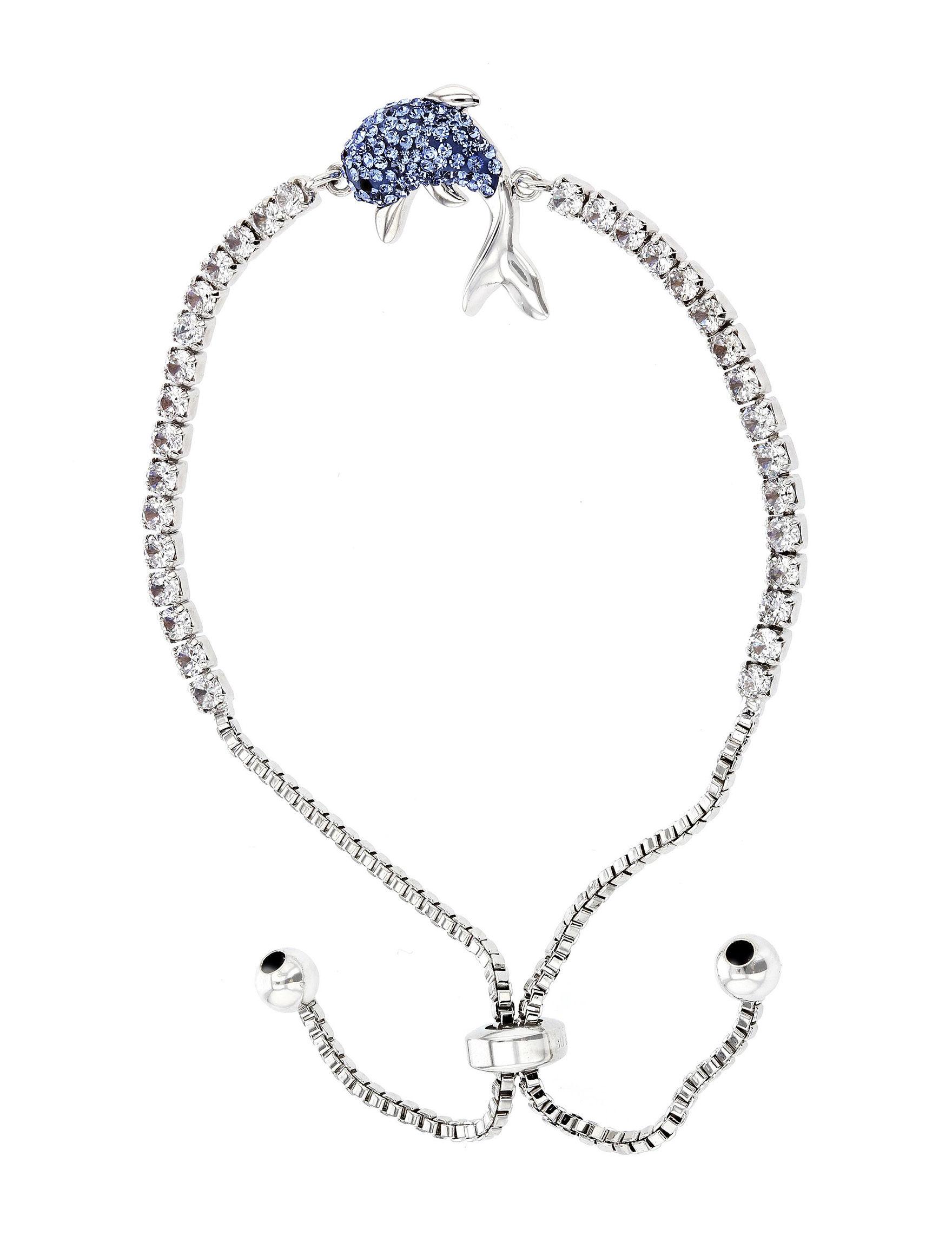 Sunstone Silver / Blue Stone Bracelets Fine Jewelry