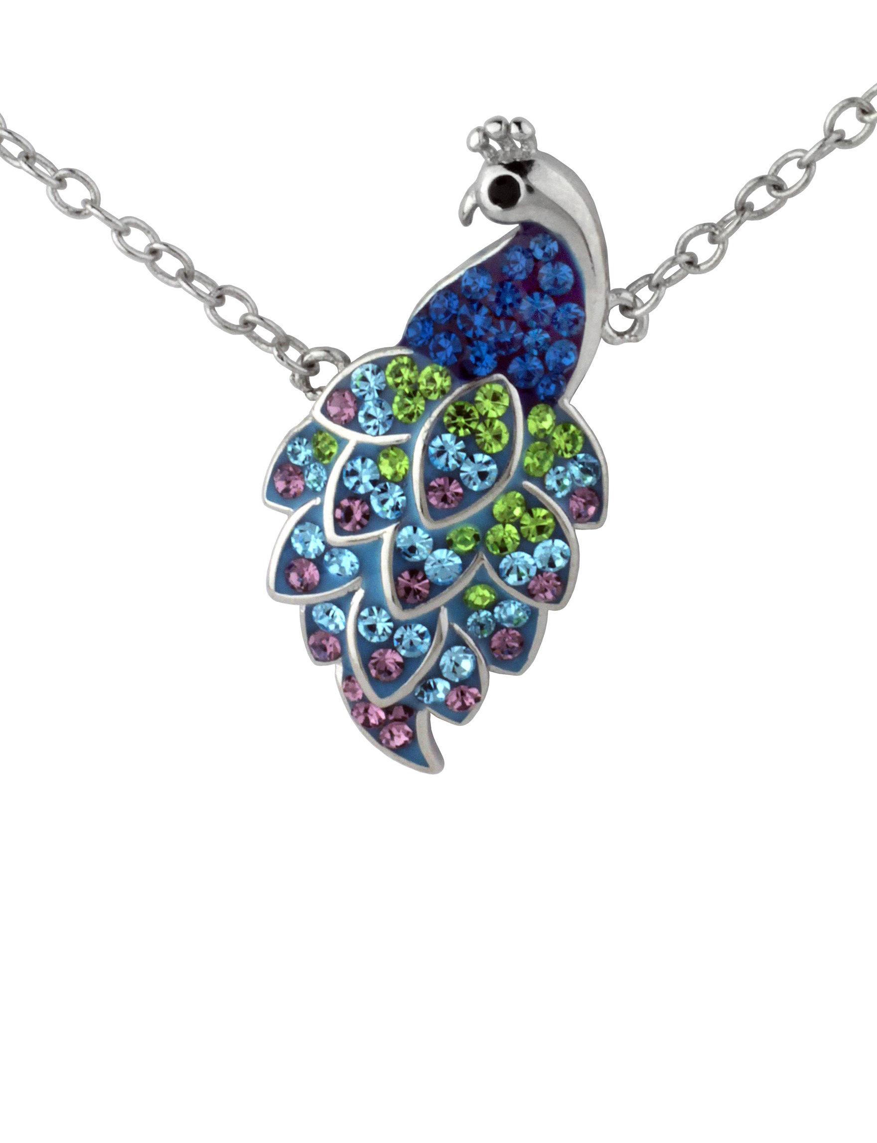 Sunstone Blue Multi Necklaces & Pendants Fine Jewelry