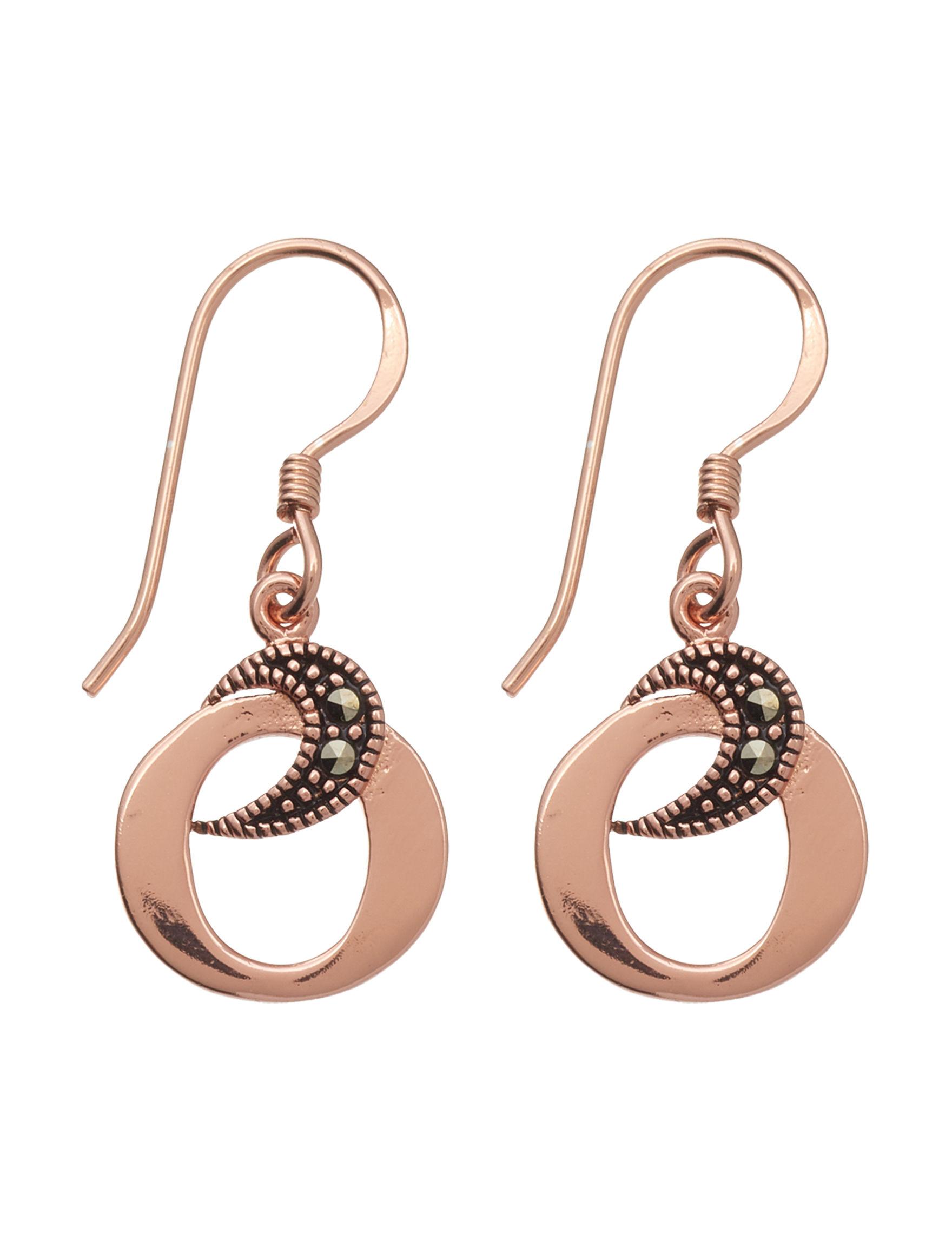 Marsala Rose Gold Drops Earrings Fine Jewelry