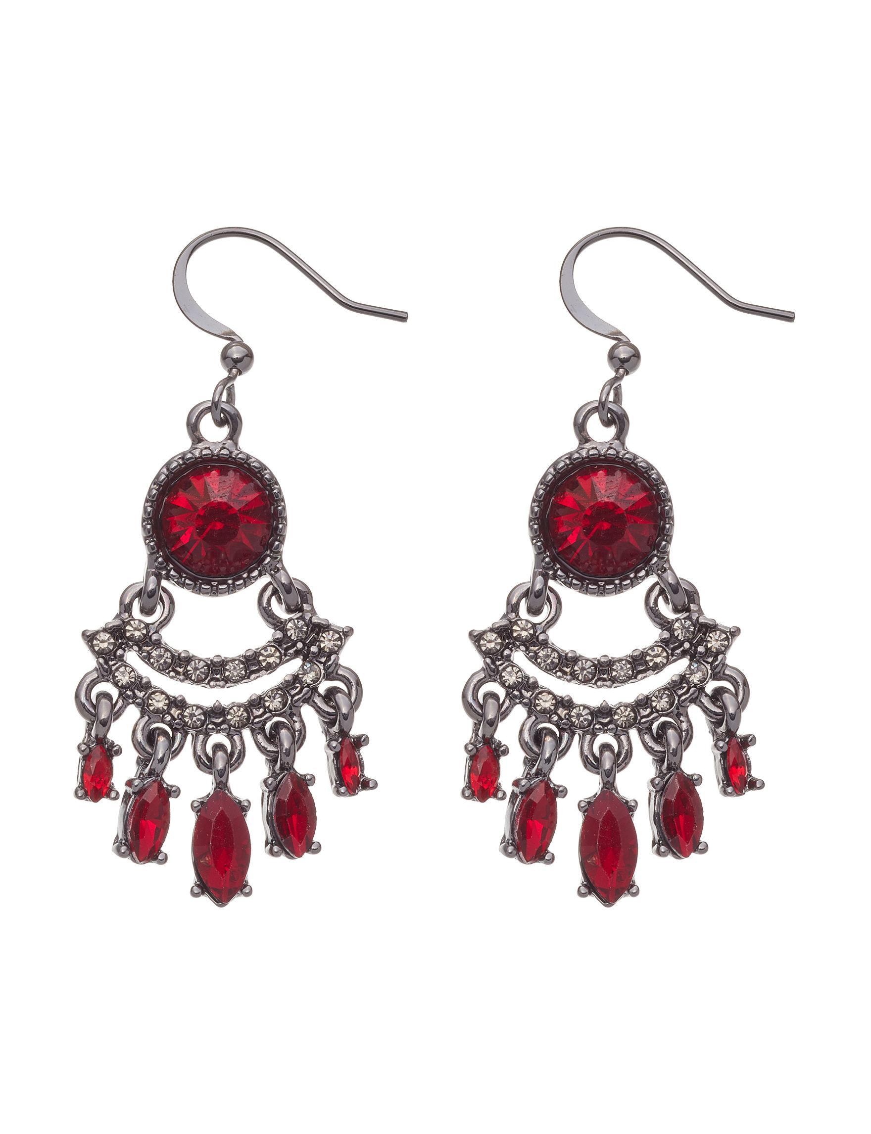 Hannah Red Drops Earrings Fashion Jewelry