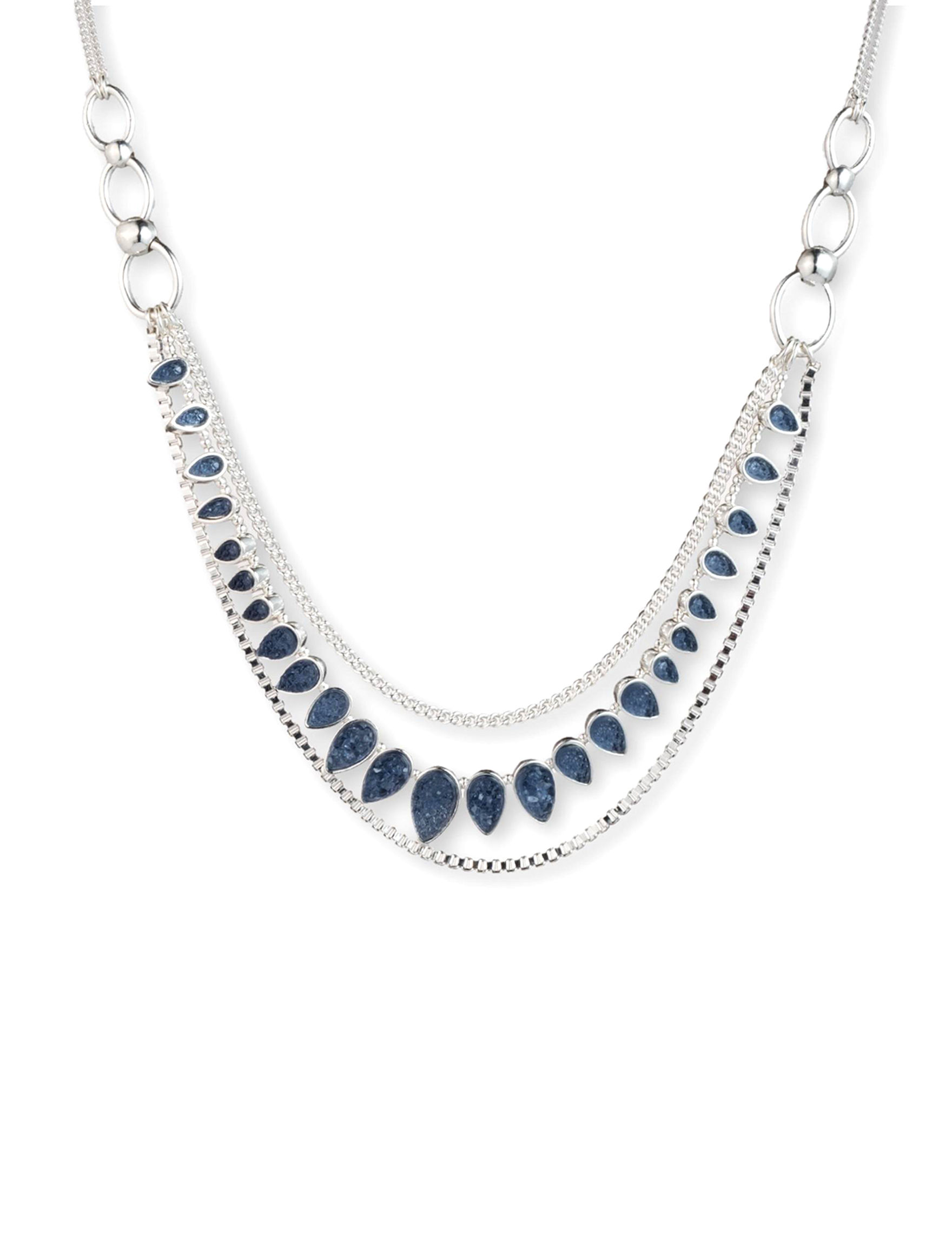 Chaps Blue Necklaces & Pendants Fashion Jewelry