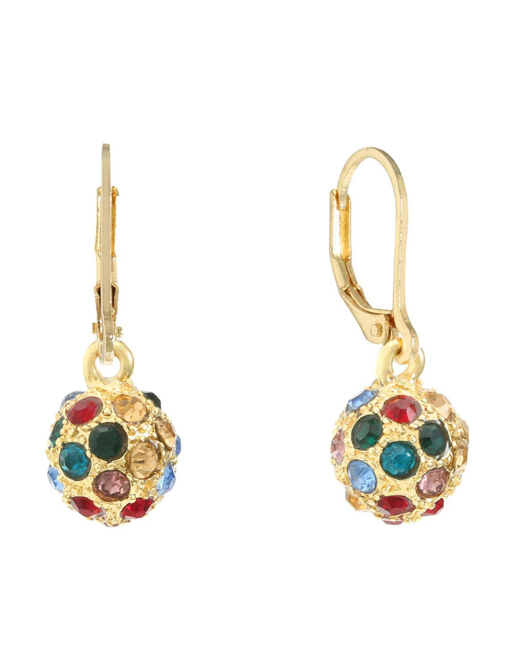 Gloria Vanderbilt Gold / Multi Drops Earrings Fashion Jewelry