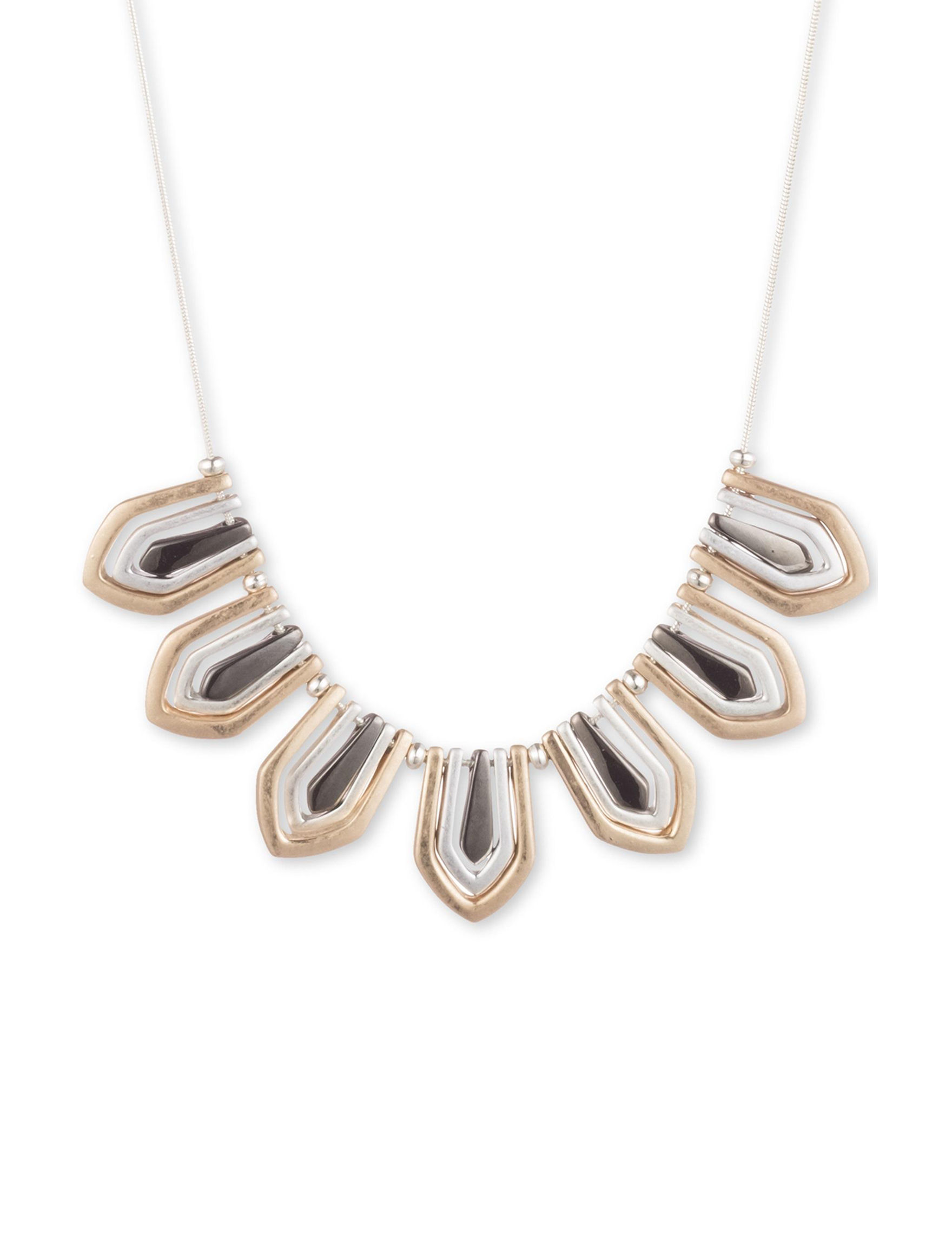 Chaps Silver / Multi Necklaces & Pendants Fashion Jewelry